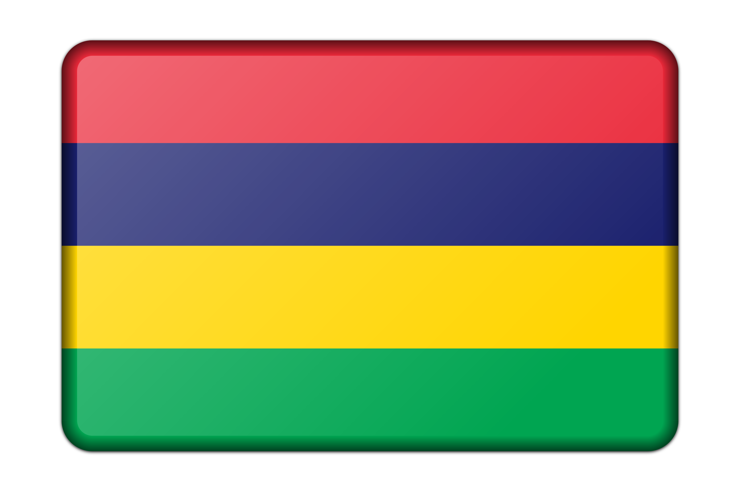 Mauritius flag (bevelled) by Firkin