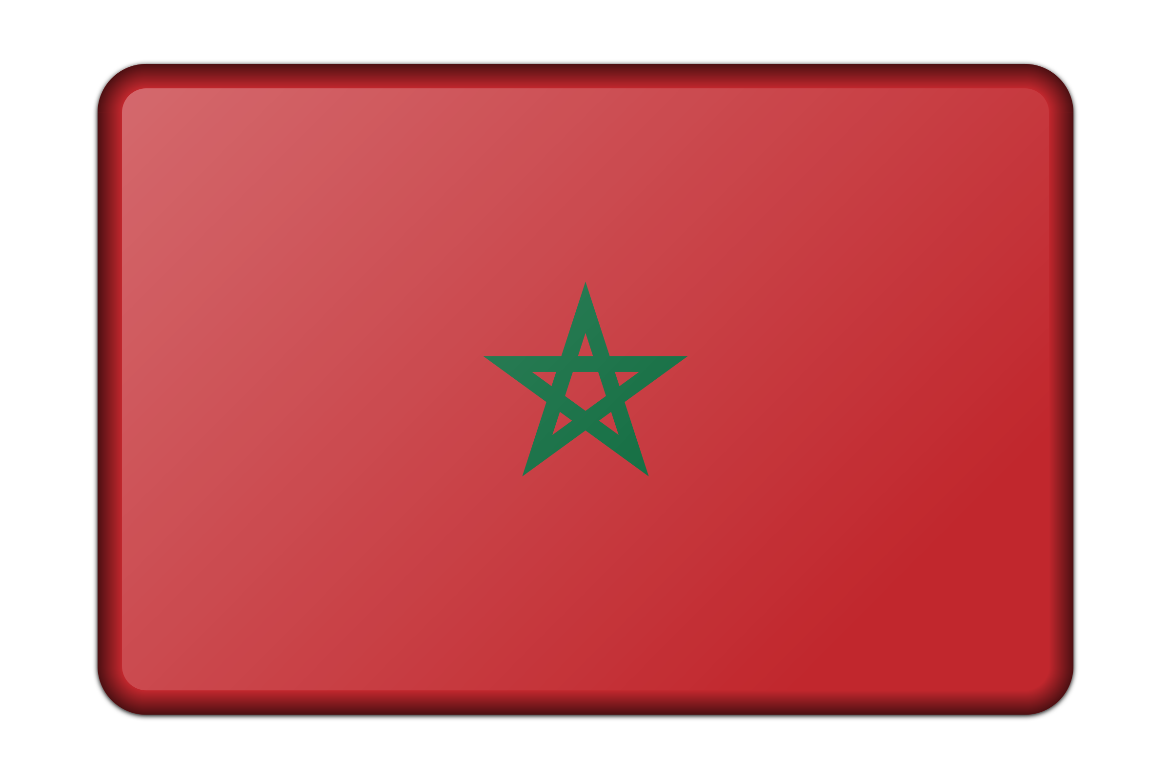 Morocco flag (bevelled) by Firkin