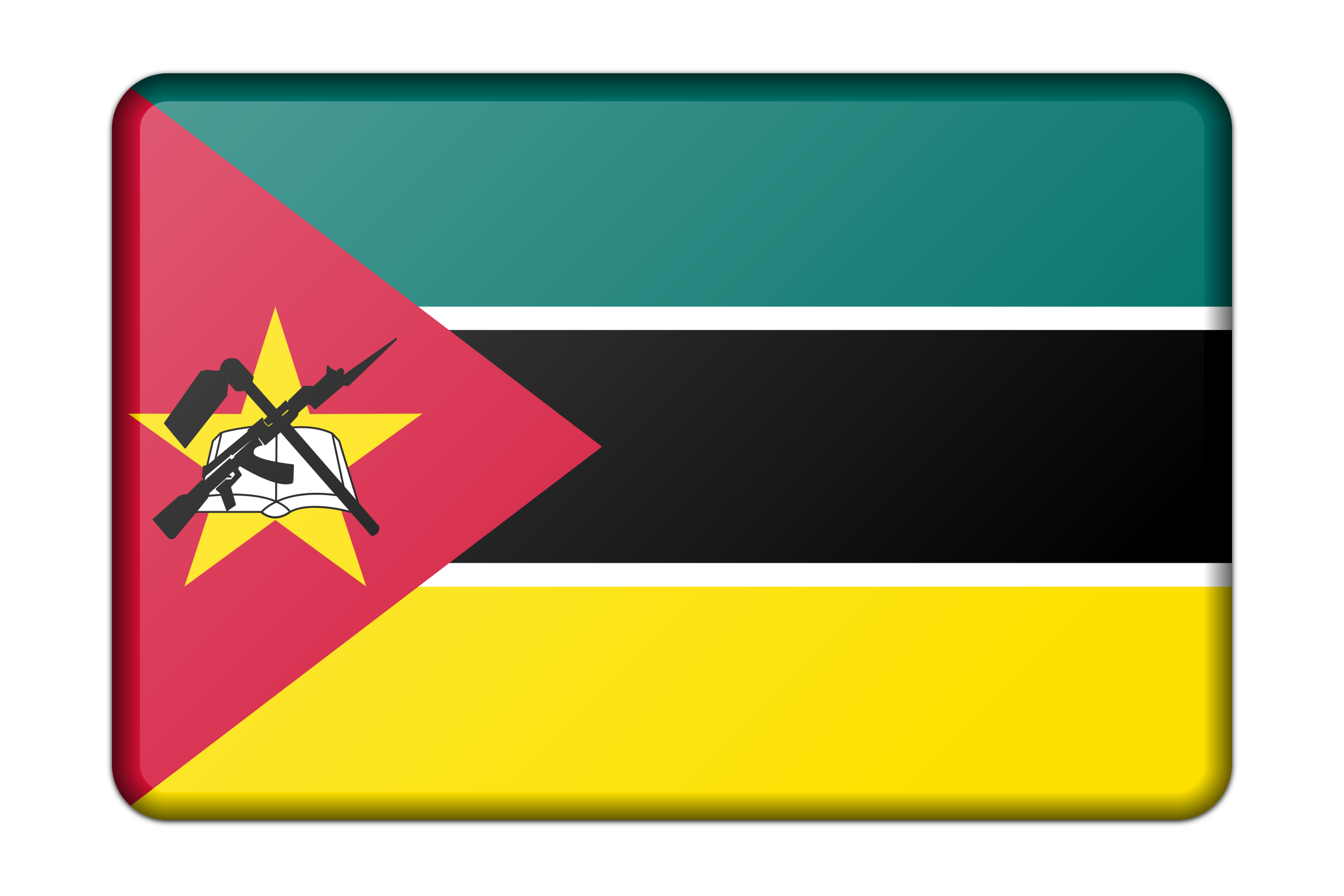 Mozambique flag (bevelled) by Firkin