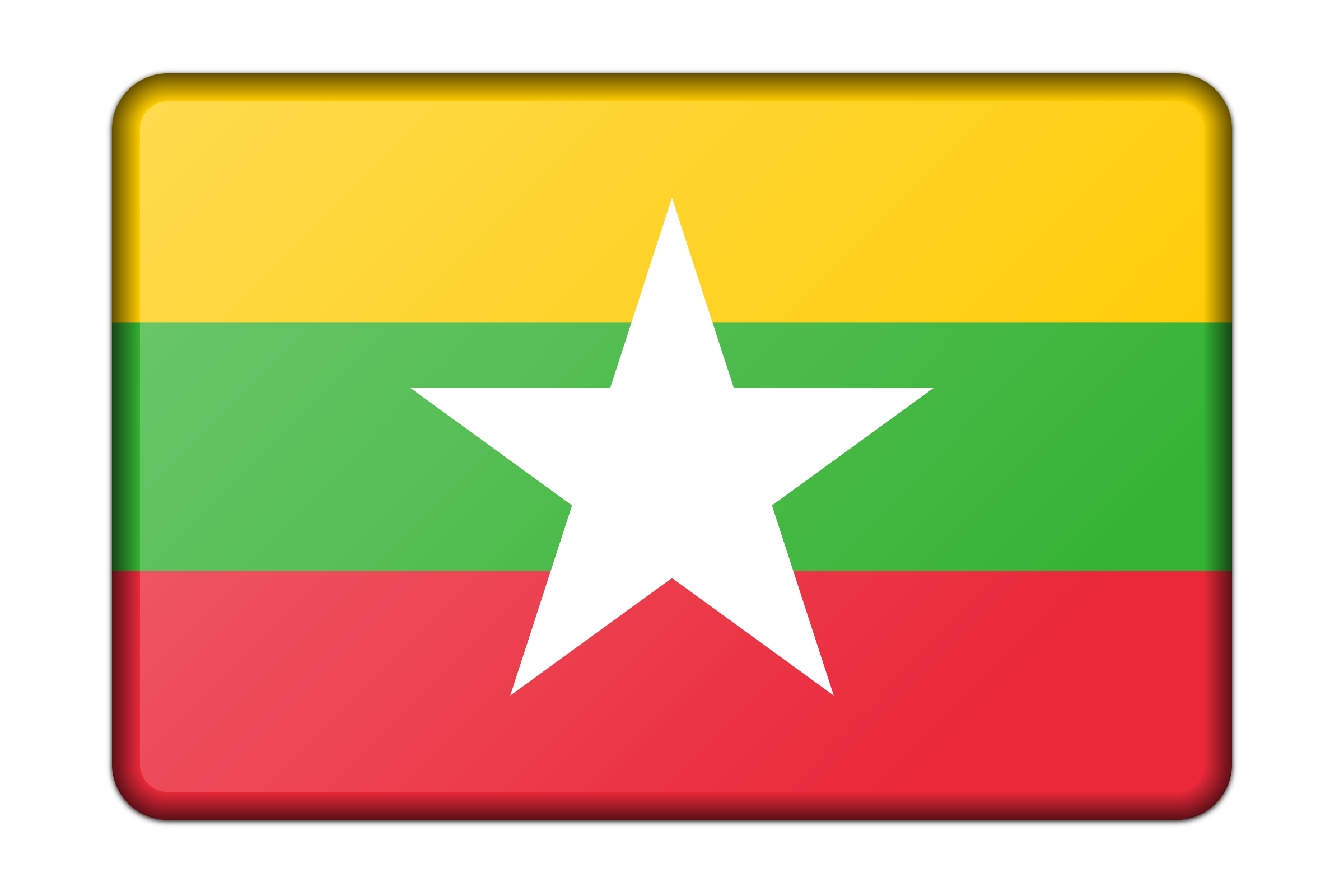 Myanmar flag (bevelled) by Firkin