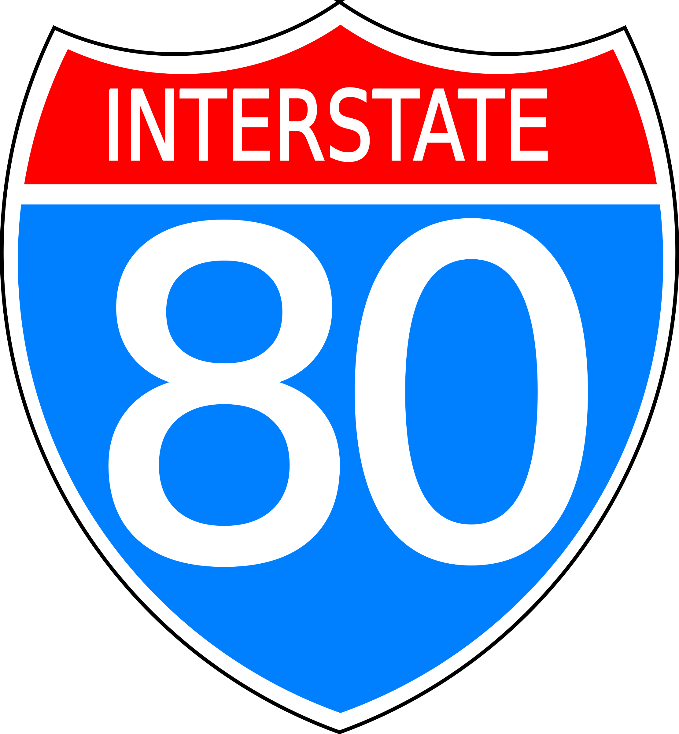 Interstate highway sign by Anonymous