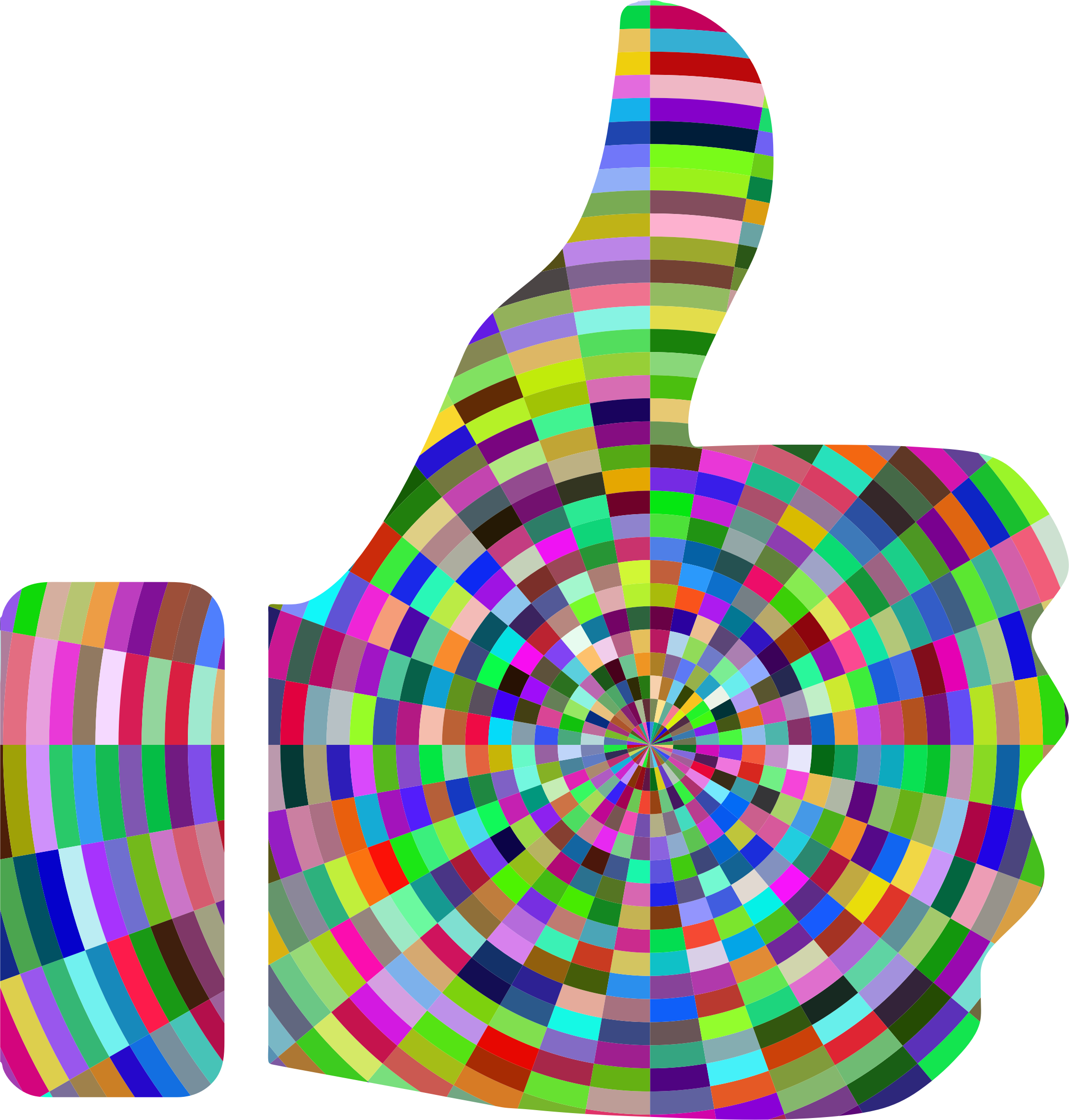 Prismatic Radial Thumbs Up by GDJ