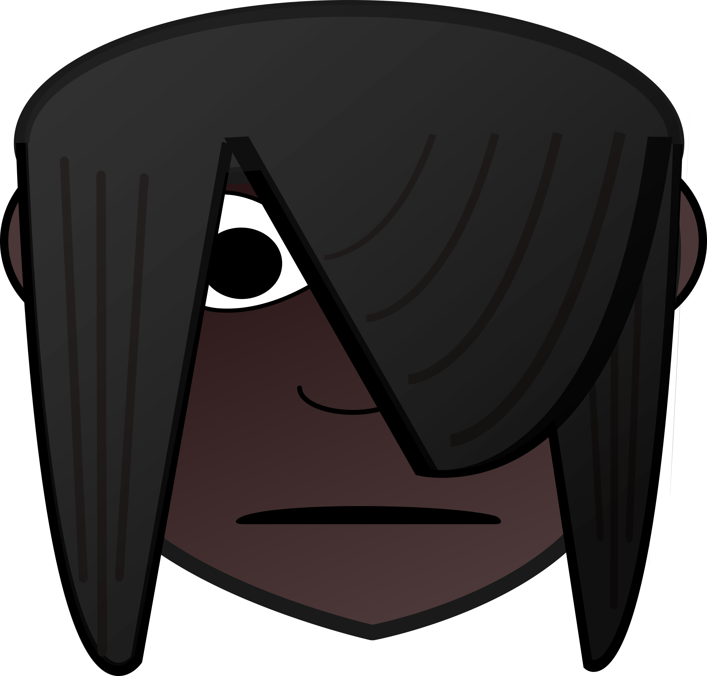 Emo Girl Head Dark by ginkgo