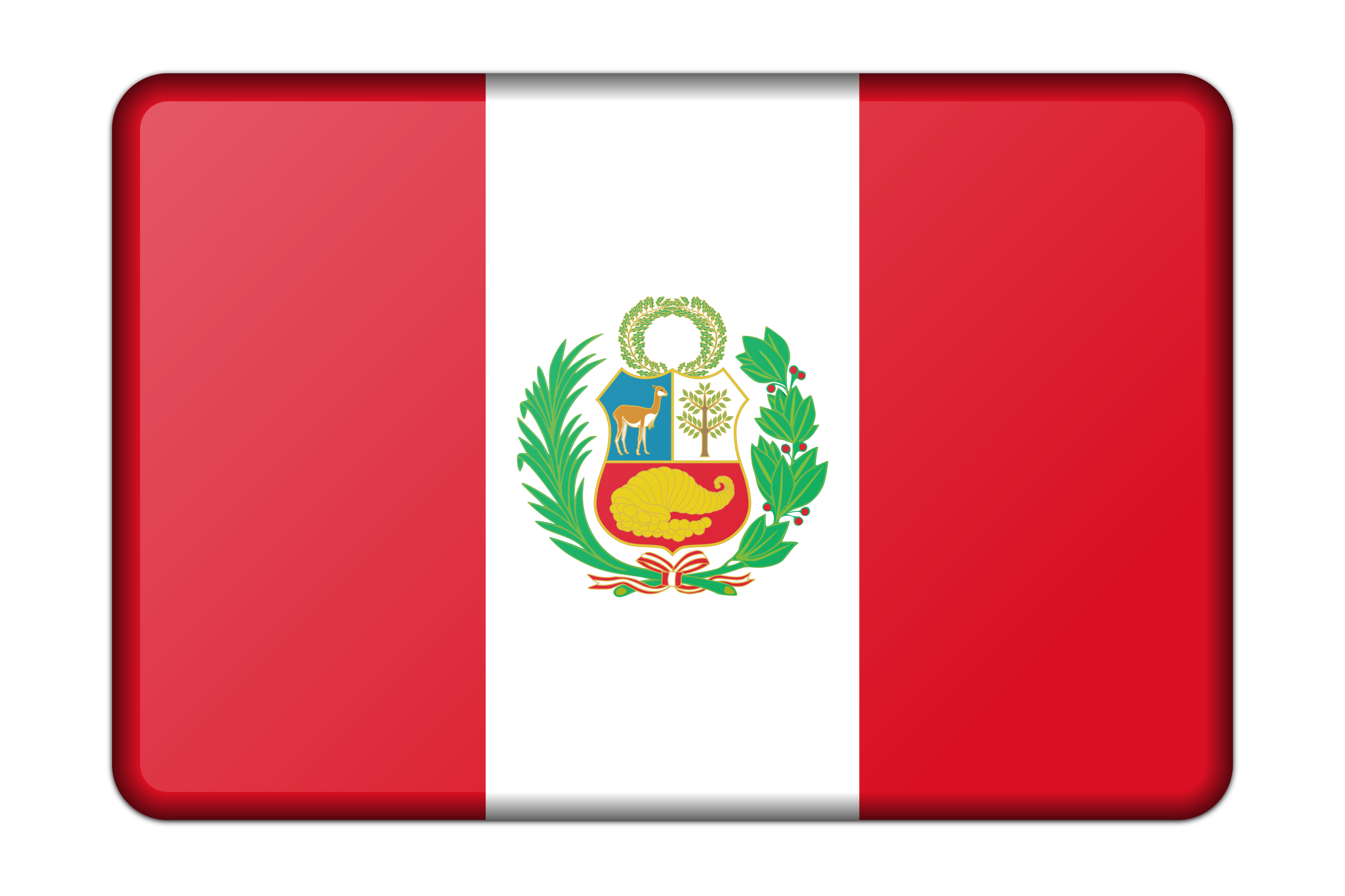 Peru flag (bevelled) by Firkin