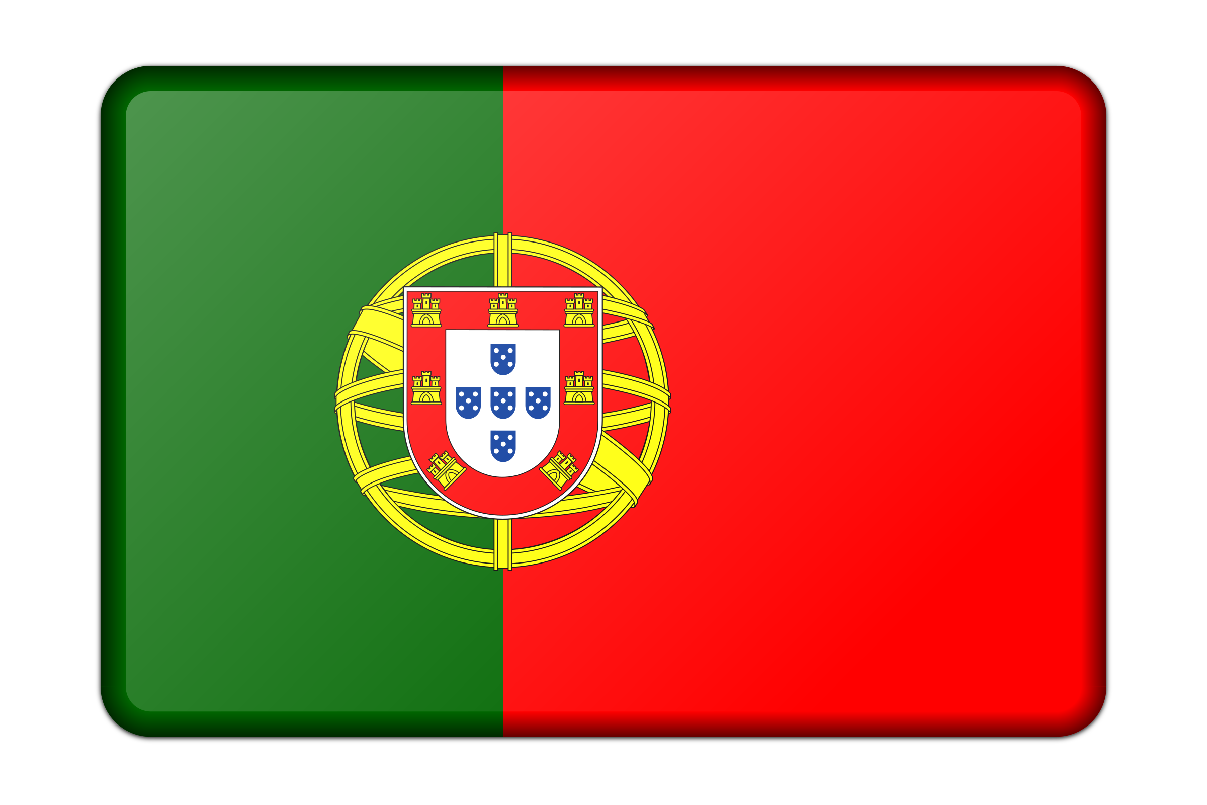 Portugal flag (bevelled) by Firkin