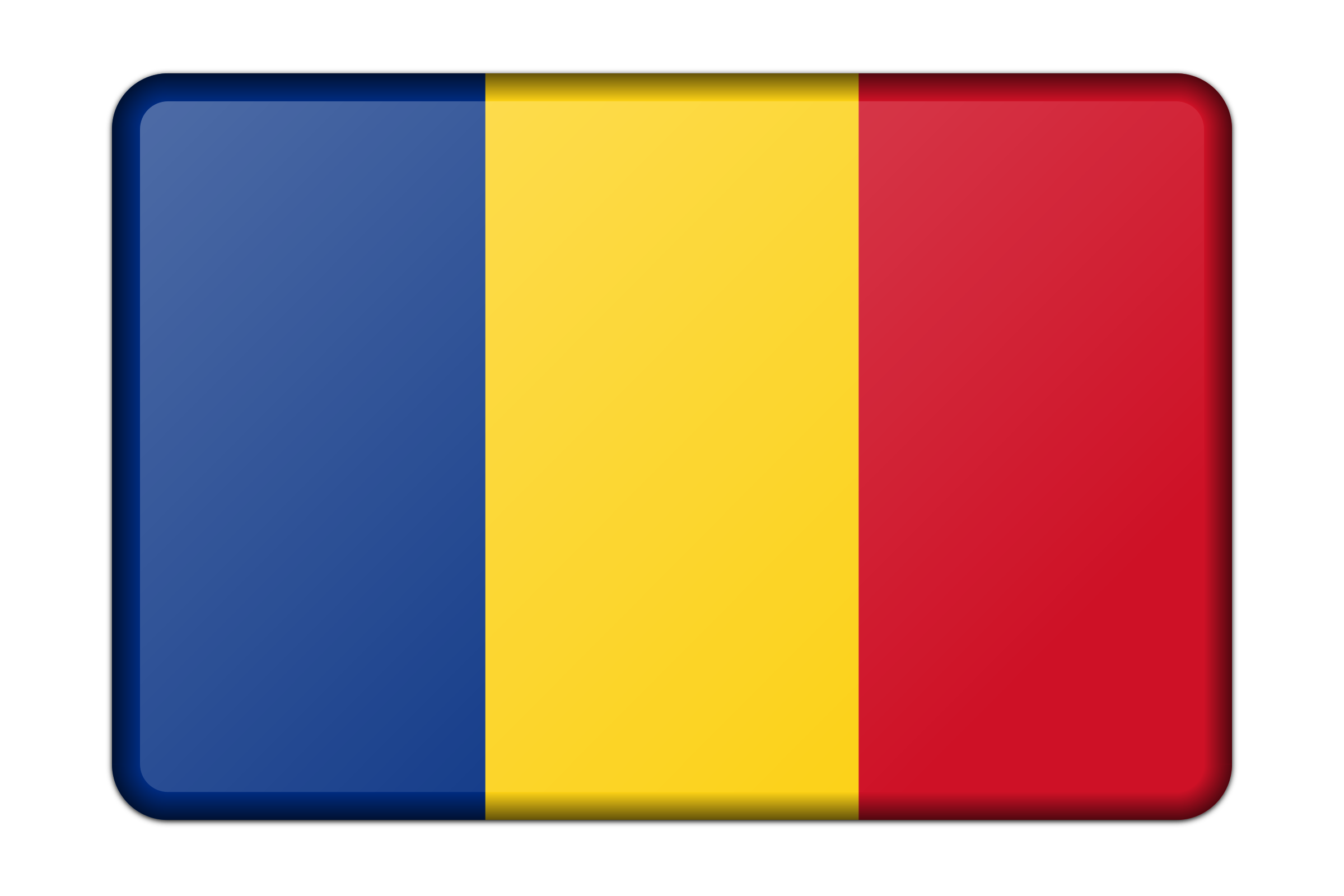 Romania flag (bevelled) by Firkin