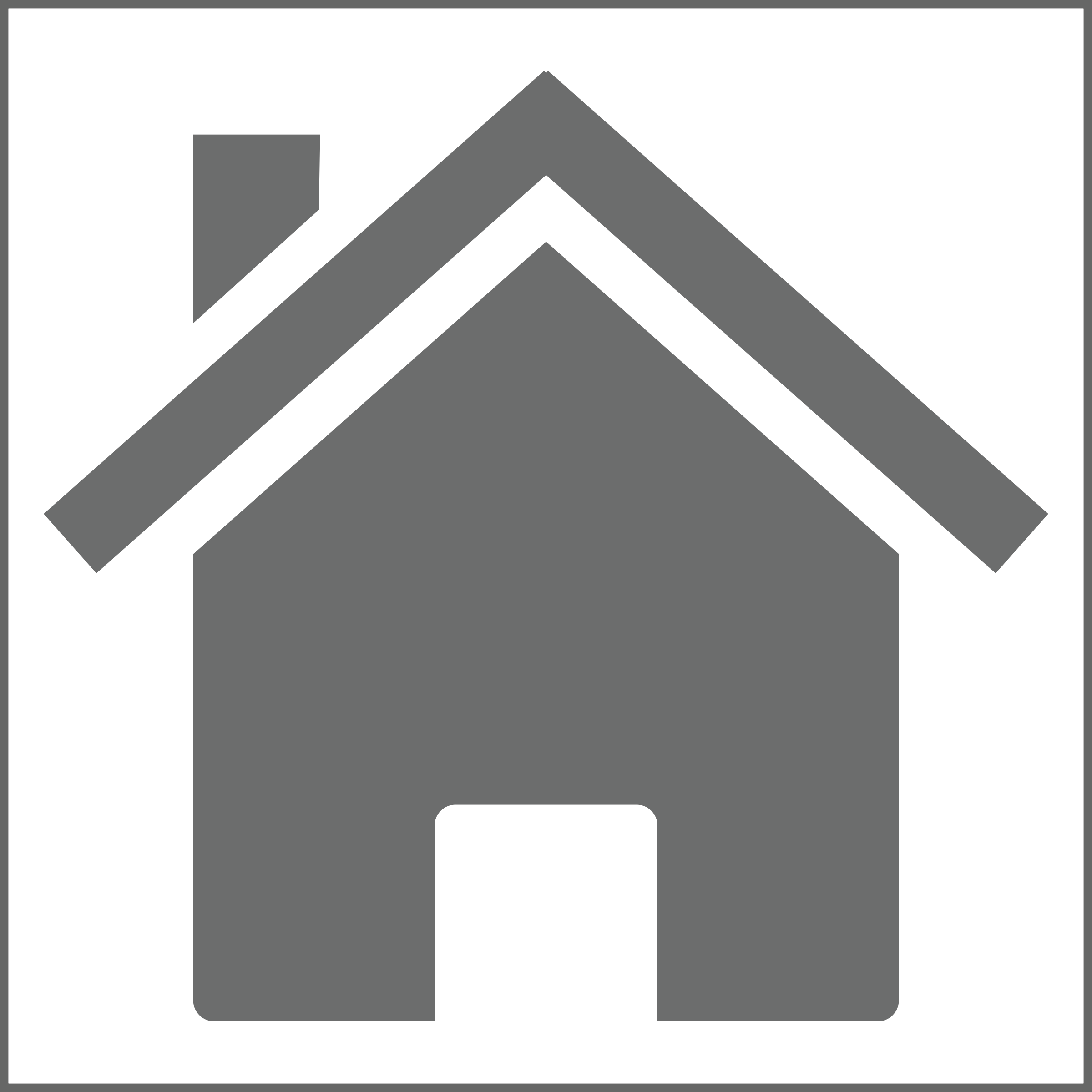 Icon: Grey on White Square - Variation of dynamitt home by mrjeremiahross