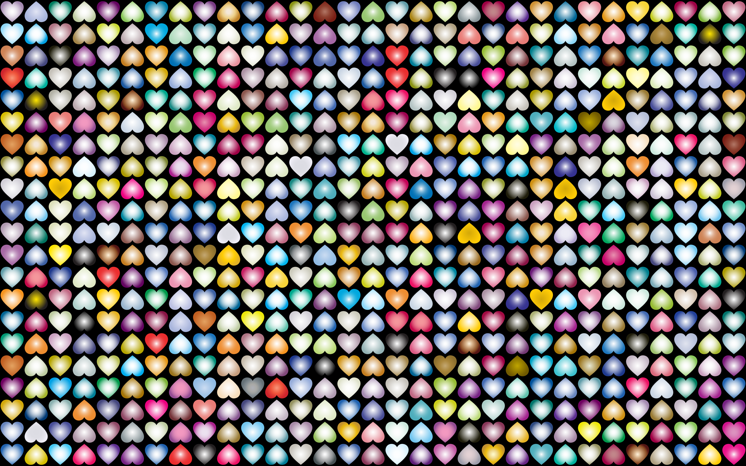 Prismatic Alternating Hearts Pattern Background 4 by GDJ