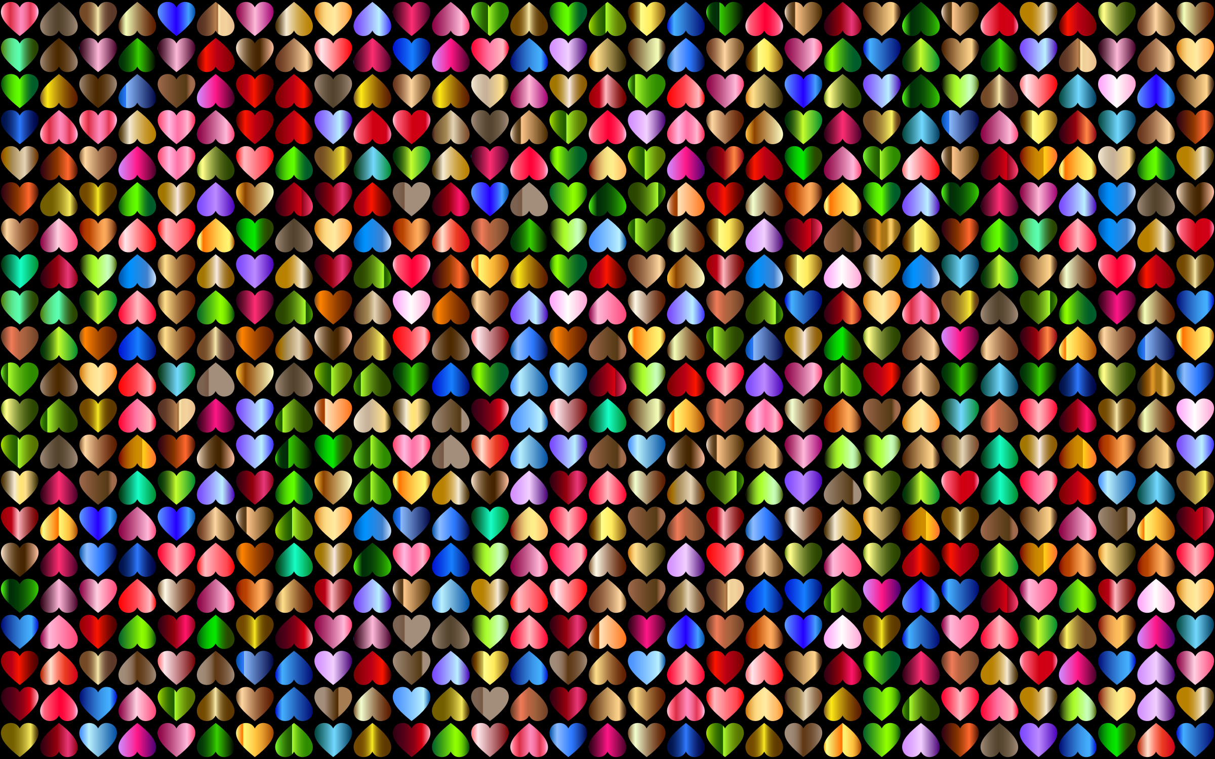 Prismatic Alternating Hearts Pattern Background 6 by GDJ