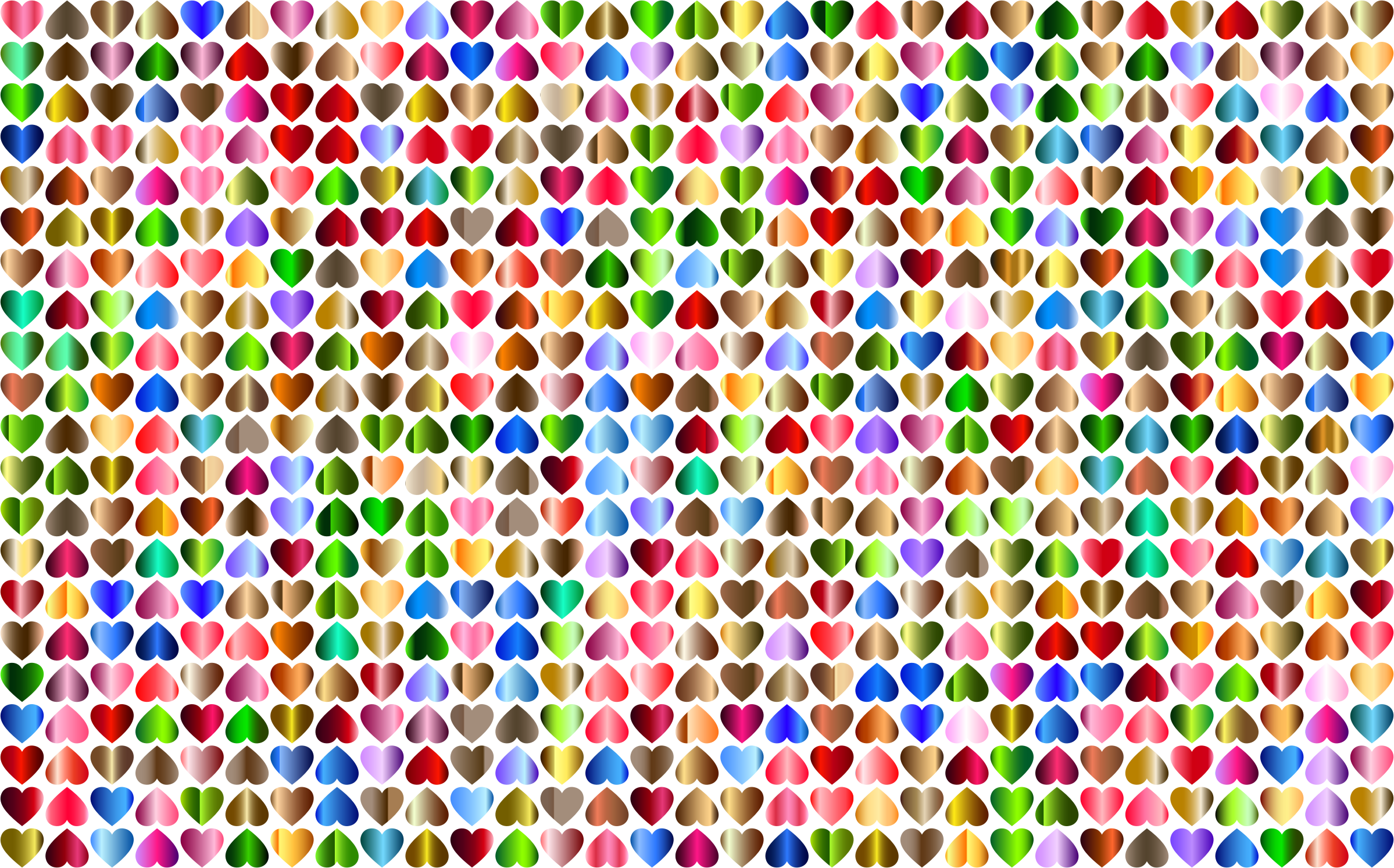 Prismatic Alternating Hearts Pattern Background 6 No Black Background by GDJ
