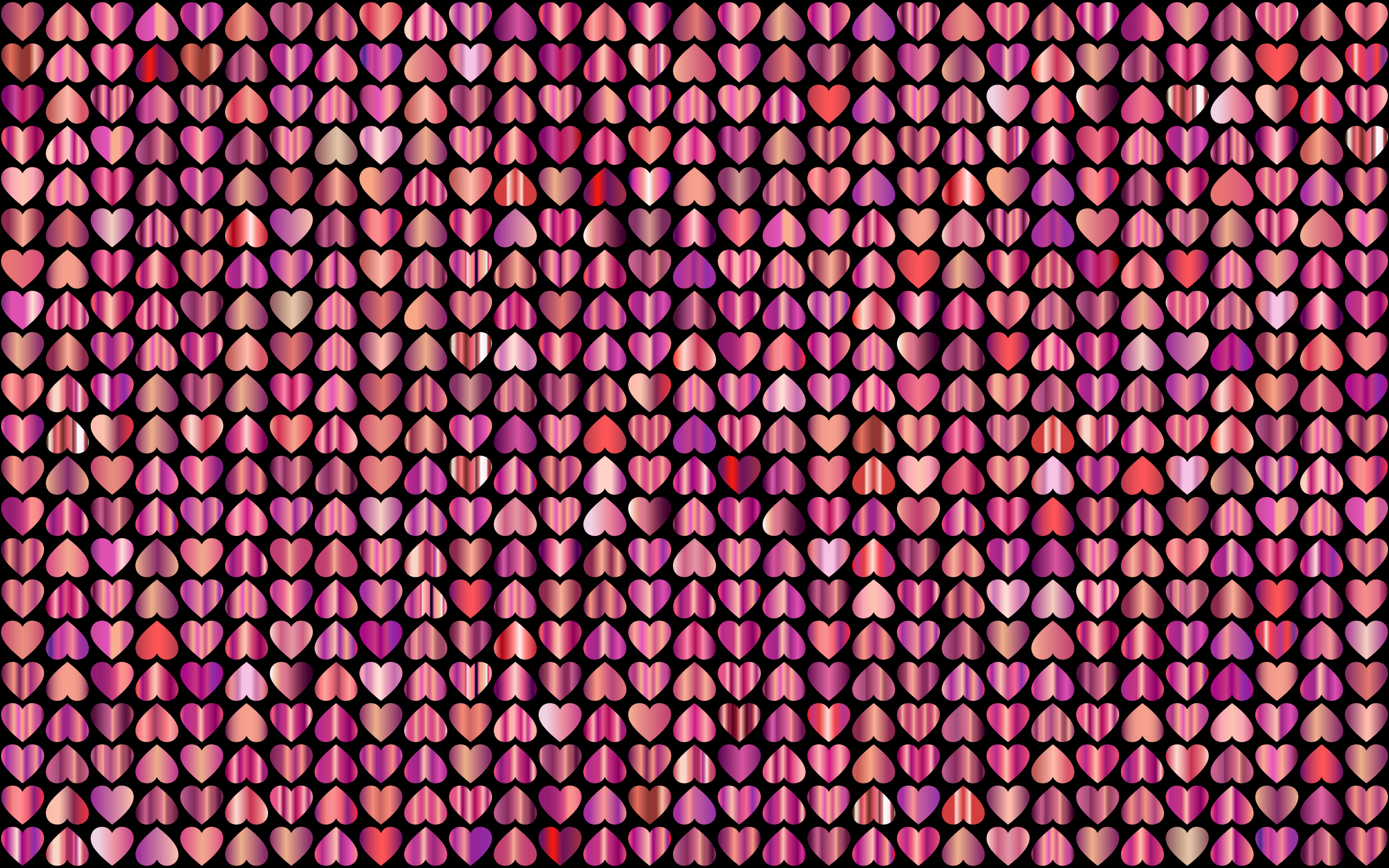 Prismatic Alternating Hearts Pattern Background 9 by GDJ