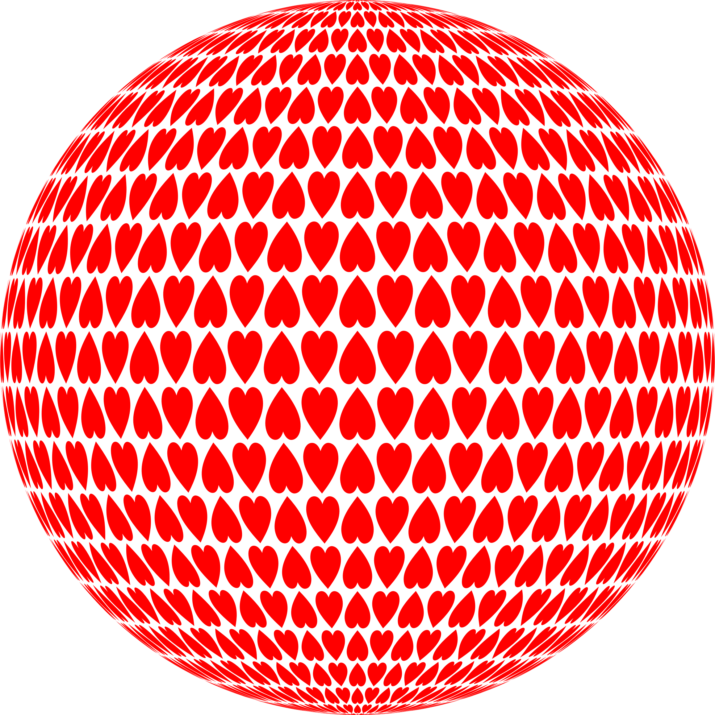 Alternating Hearts Sphere by GDJ