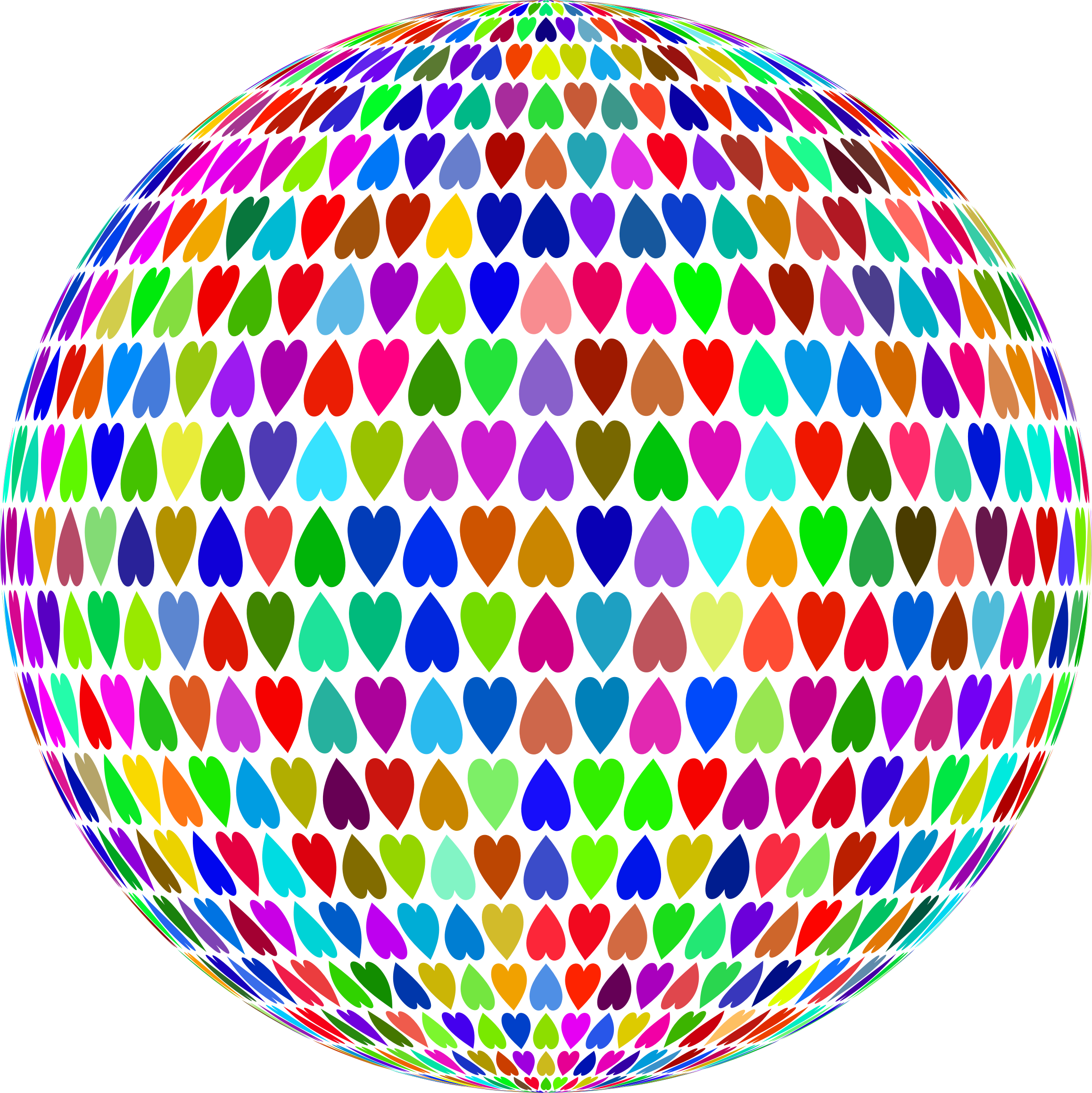 Prismatic Alternating Hearts Sphere by GDJ