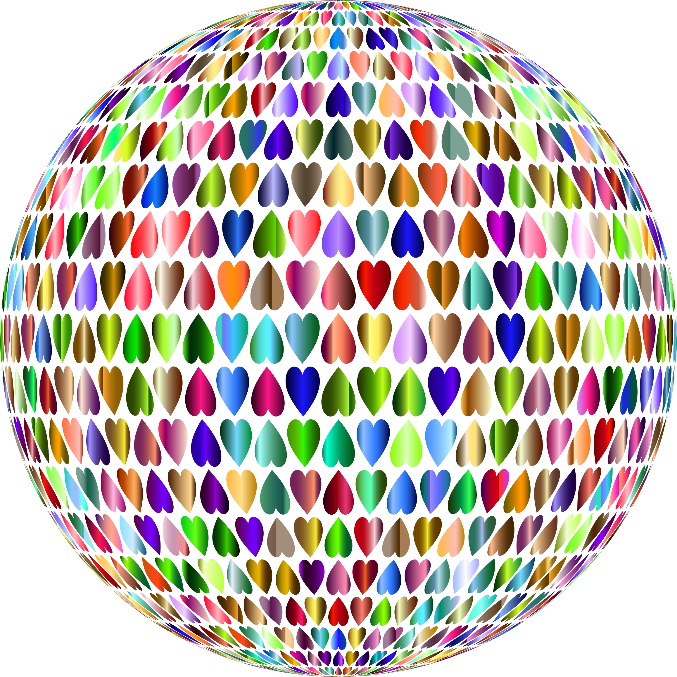 Prismatic Alternating Hearts Sphere 4 No Background by GDJ