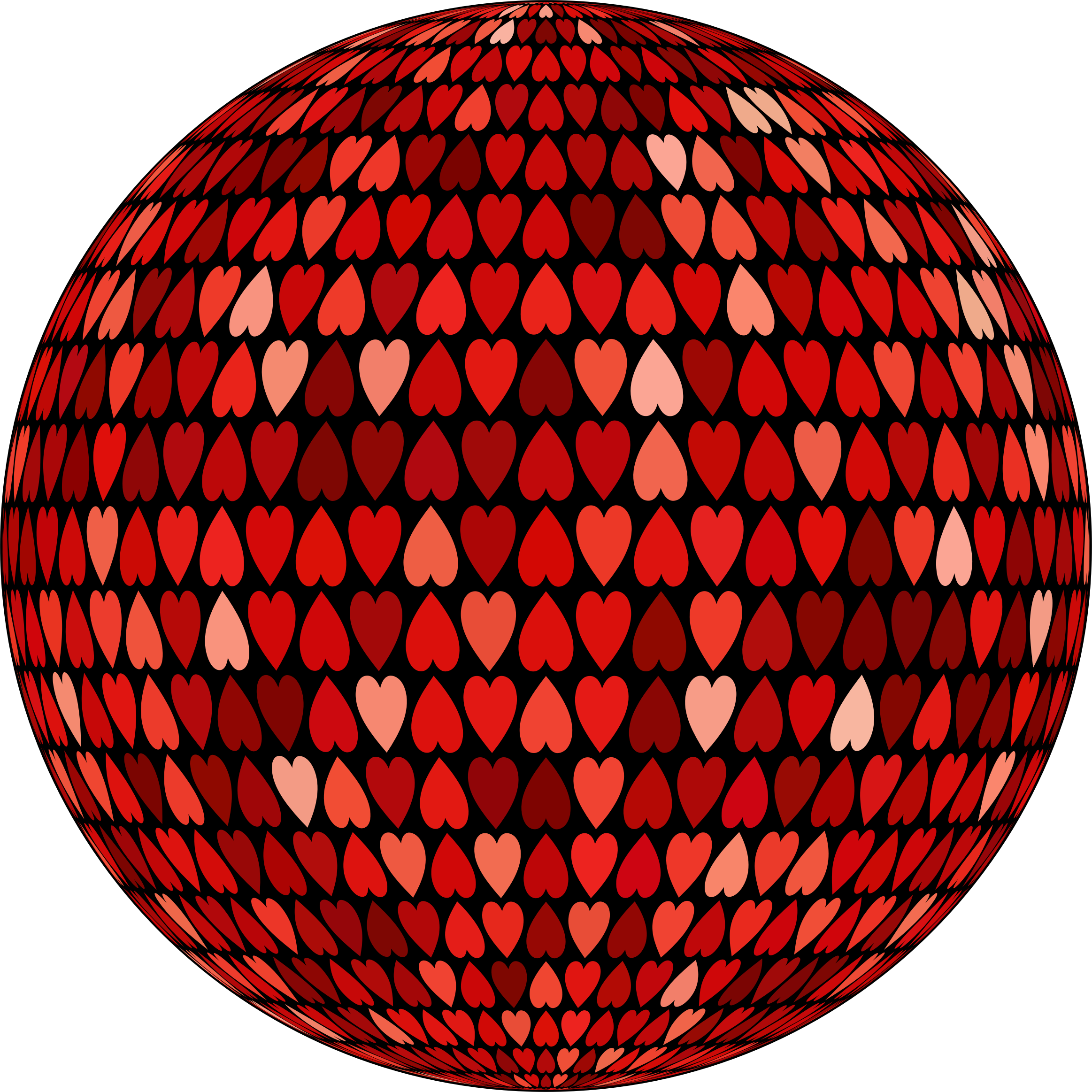 Prismatic Alternating Hearts Sphere 5 by GDJ
