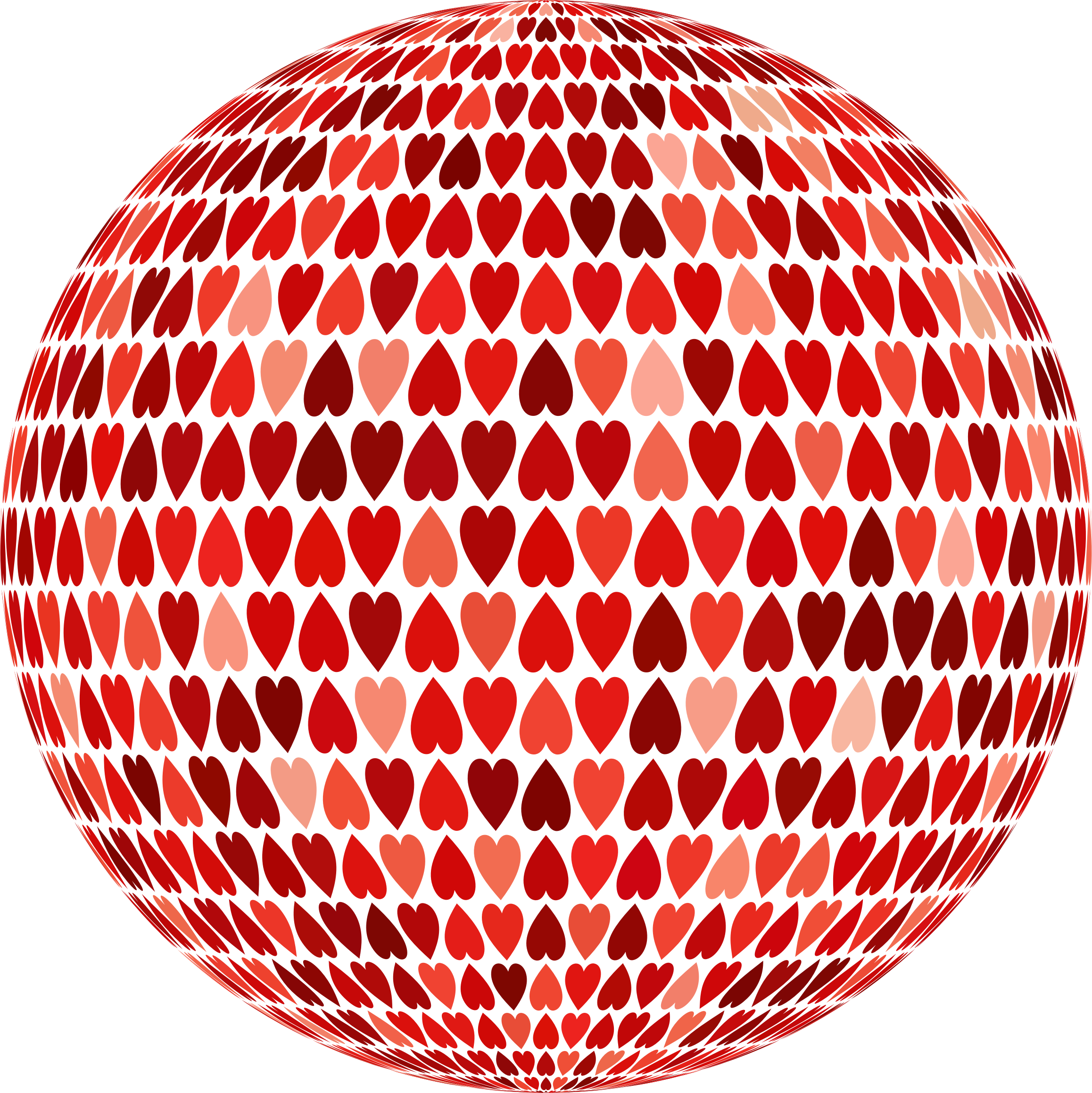 Prismatic Alternating Hearts Sphere 5 No Background by GDJ