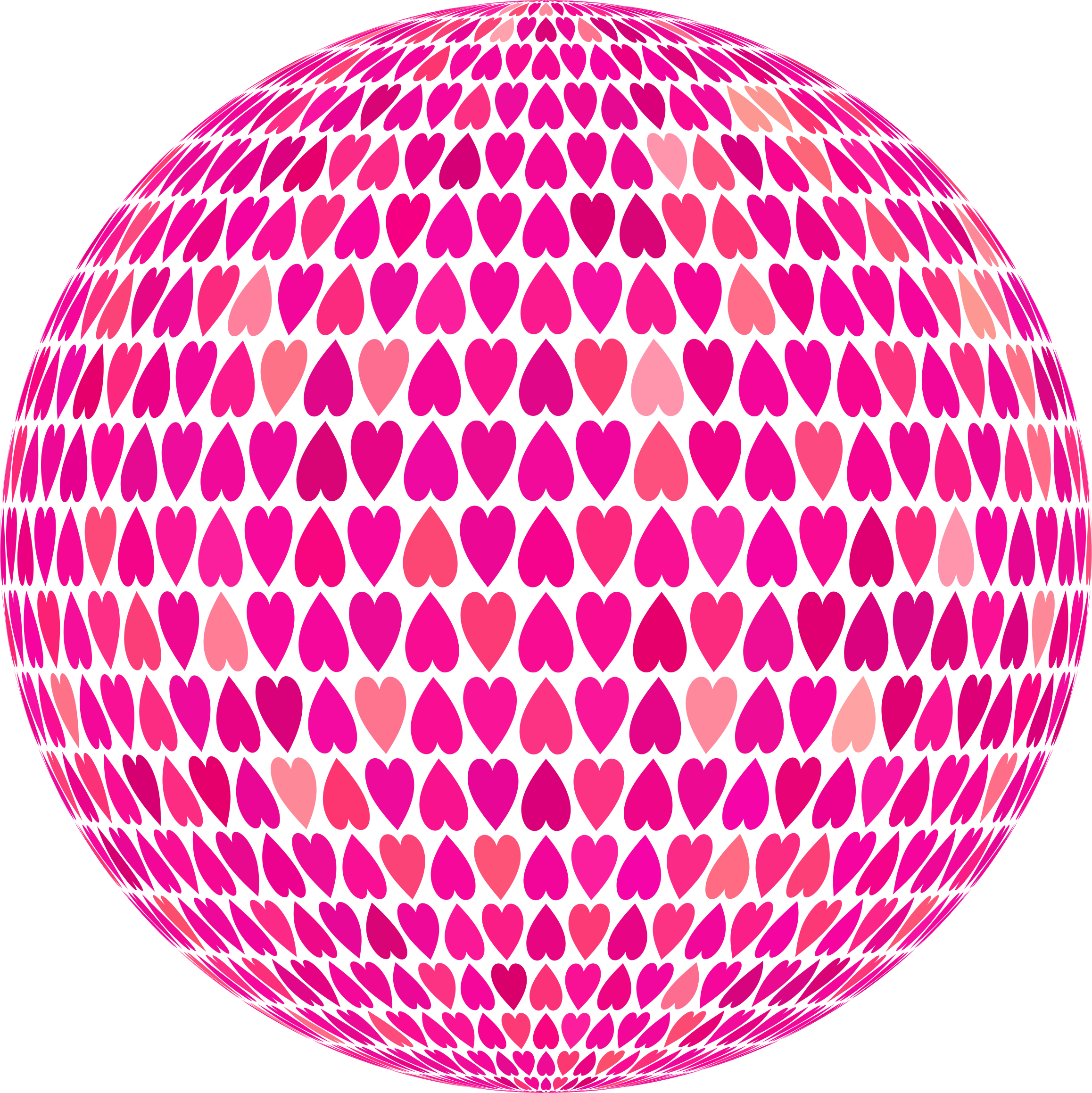 Prismatic Alternating Hearts Sphere 6 No Background by GDJ