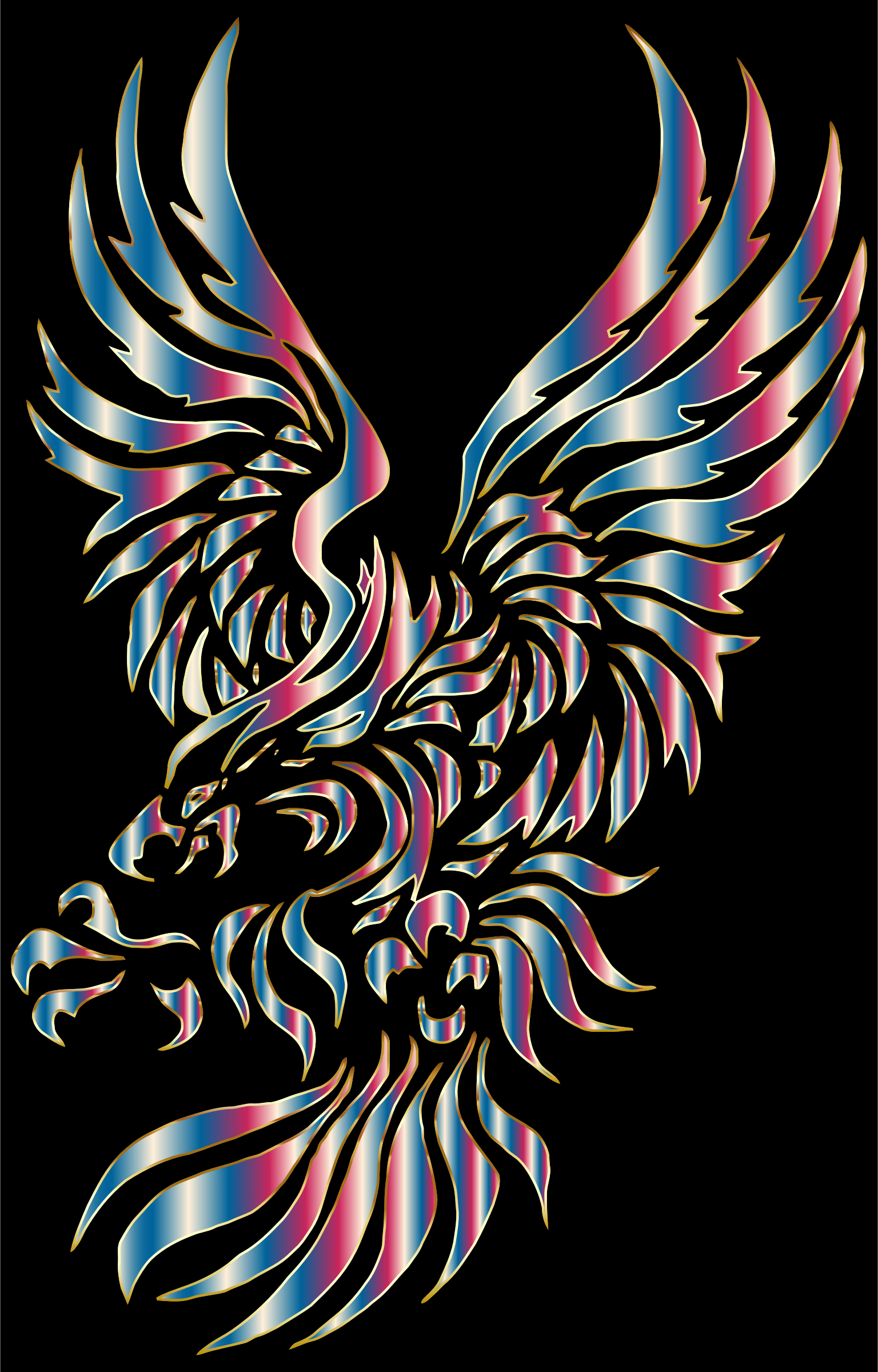 Chromatic Tribal Eagle 2 by GDJ