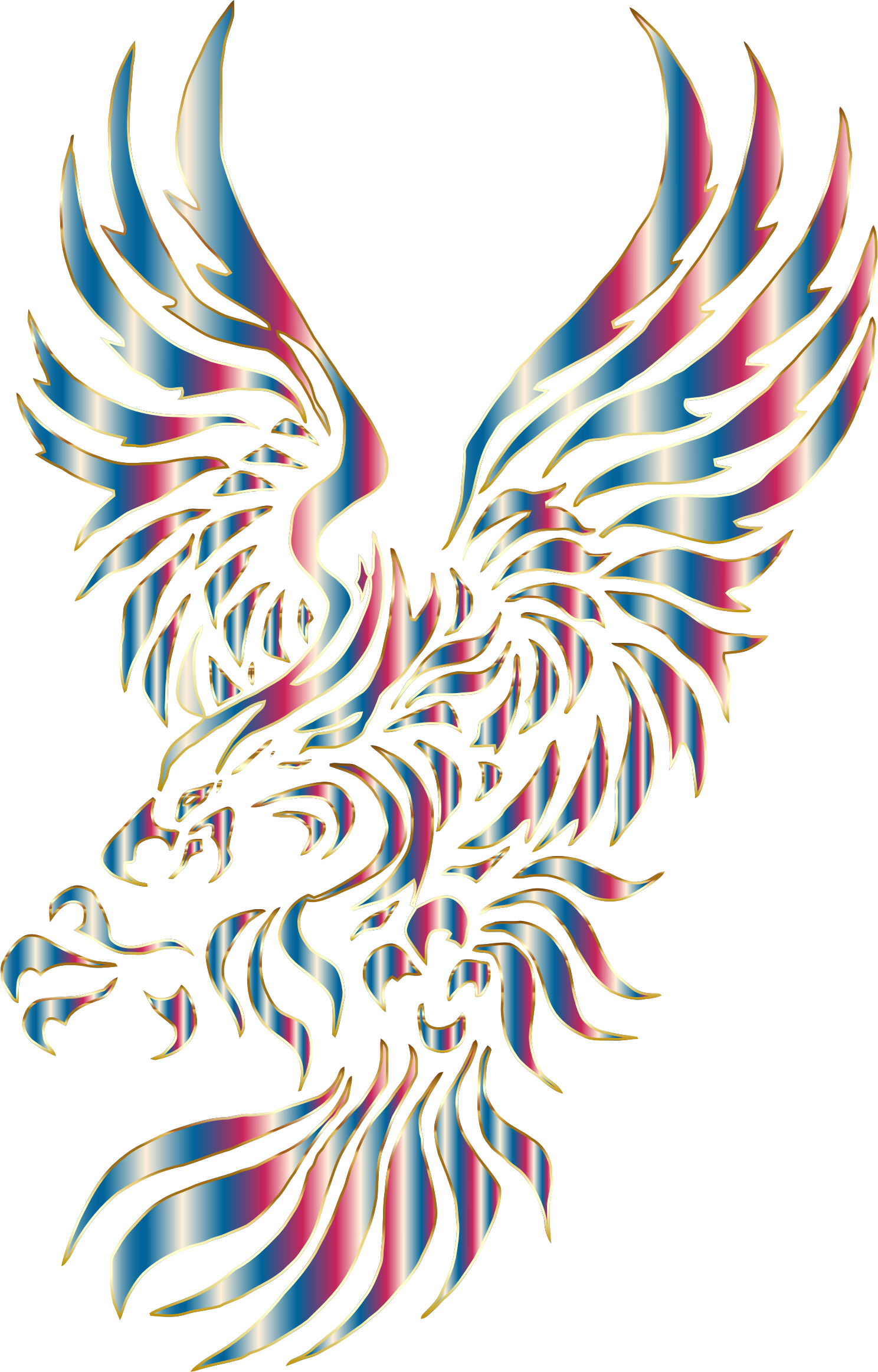 Chromatic Tribal Eagle 2 No Background by GDJ