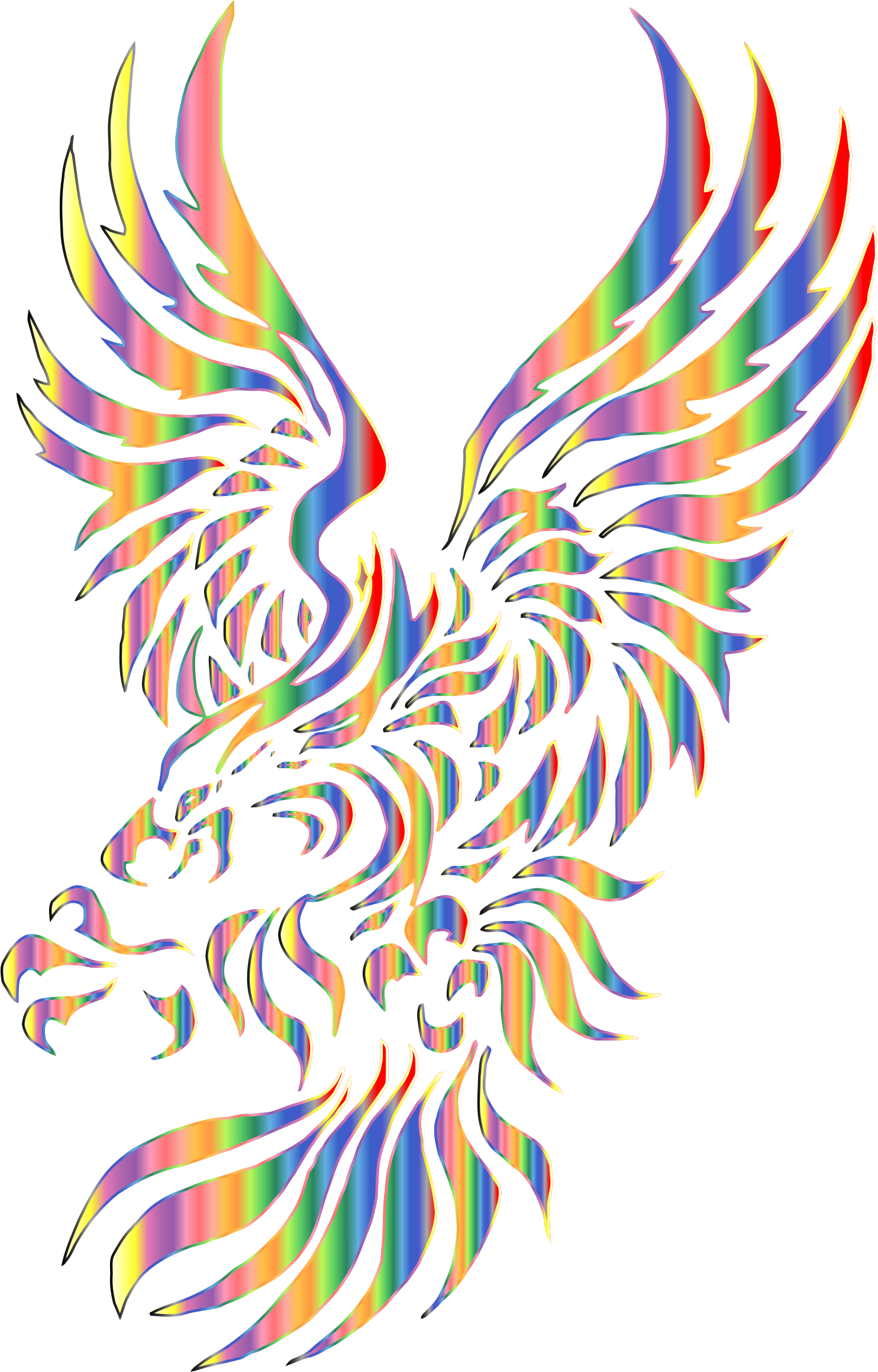 Chromatic Tribal Eagle 2 2 No Background by GDJ