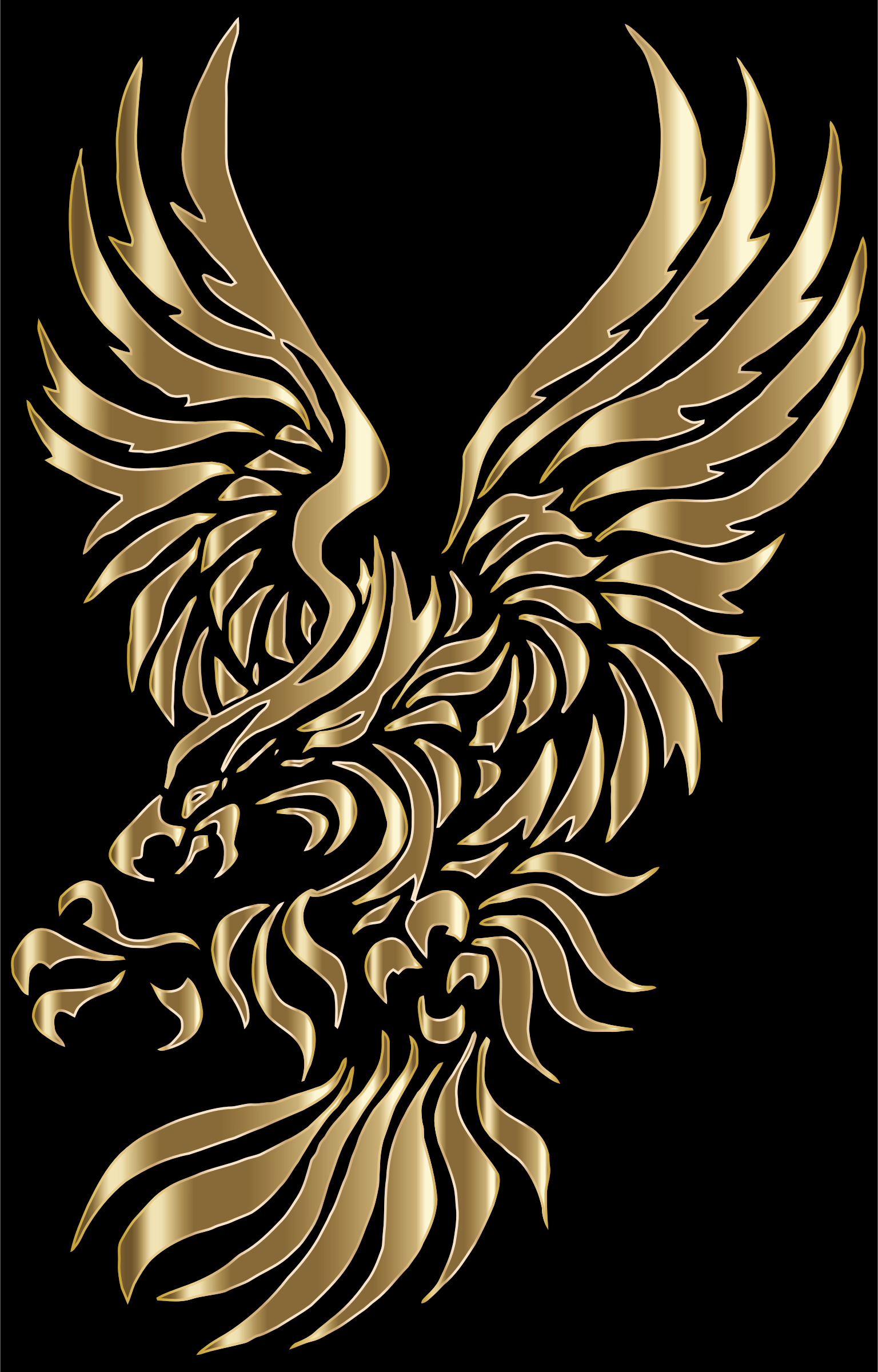 Clipart - Chromatic Tribal Eagle 2 4