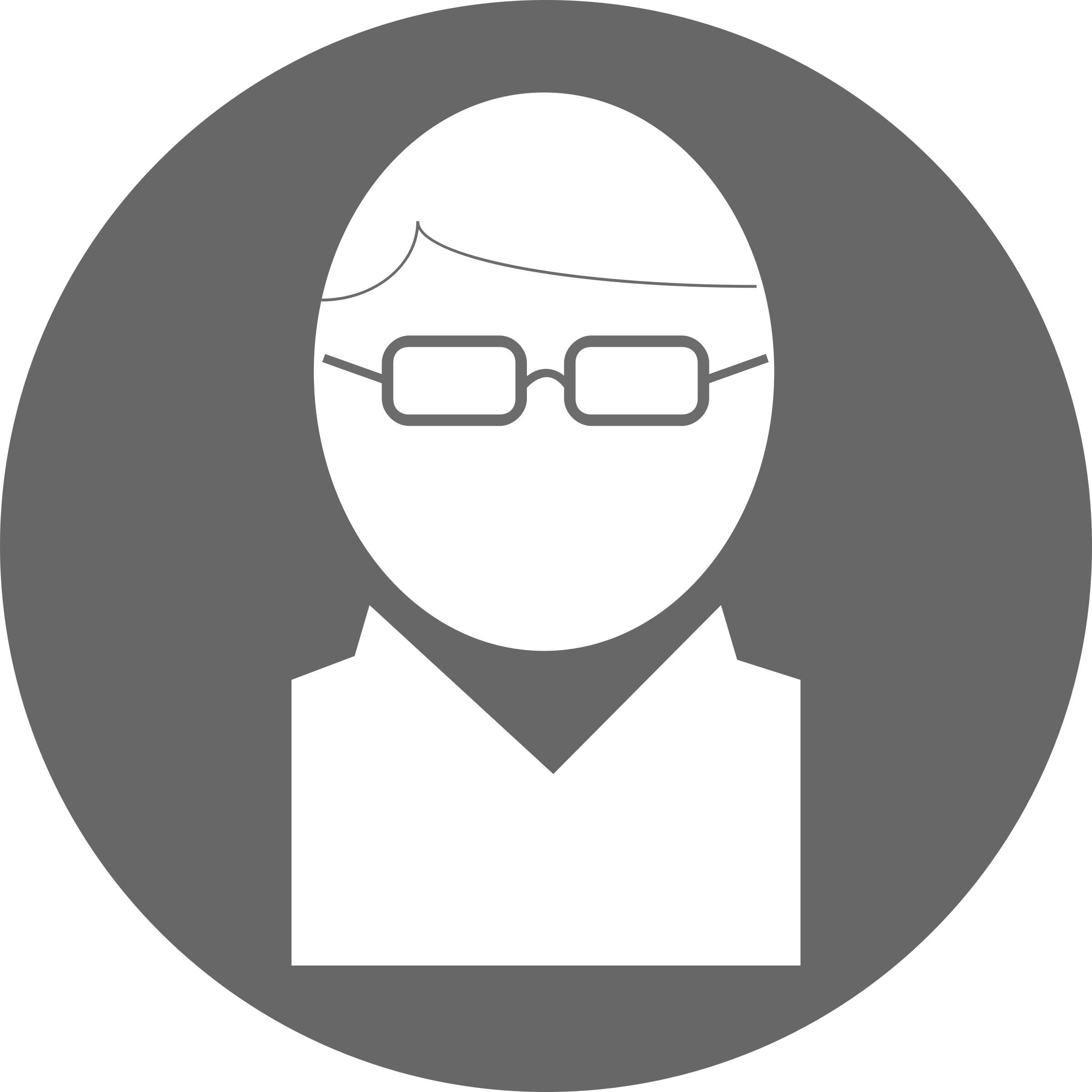 Icon: Glasses Hair Part White on Grey by mrjeremiahross
