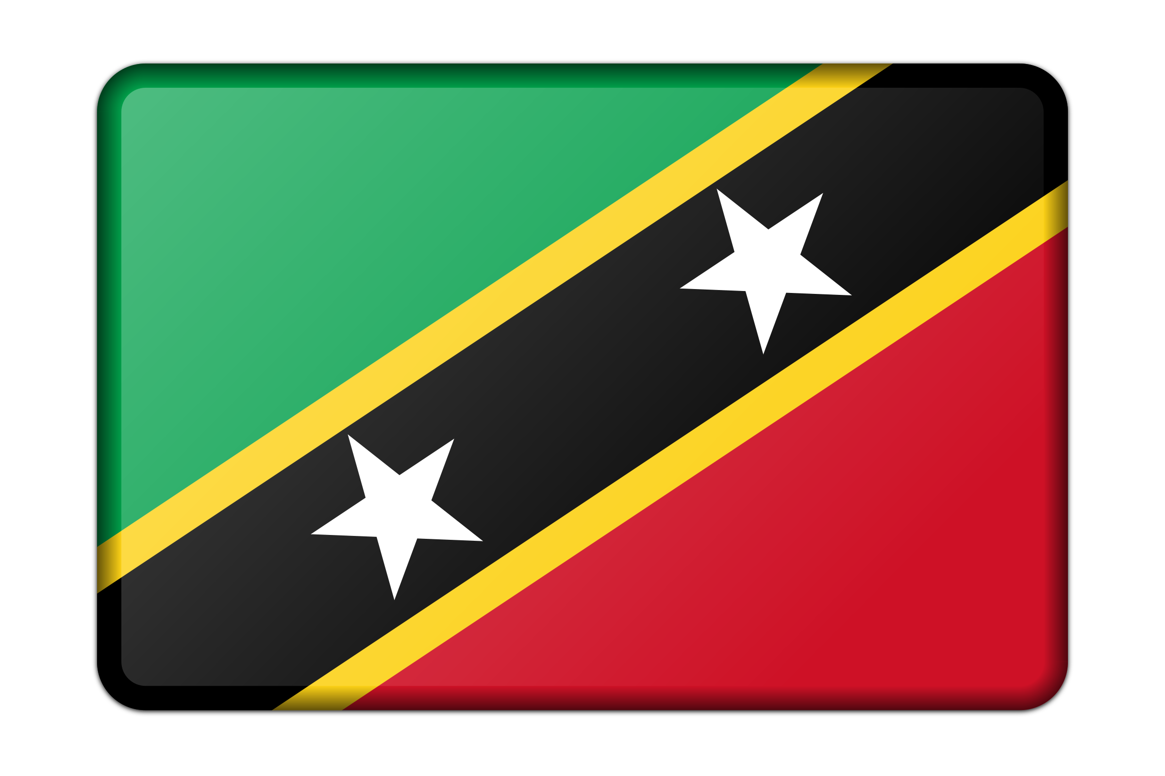 St Kitts and Nevis flag (bevelled) by Firkin