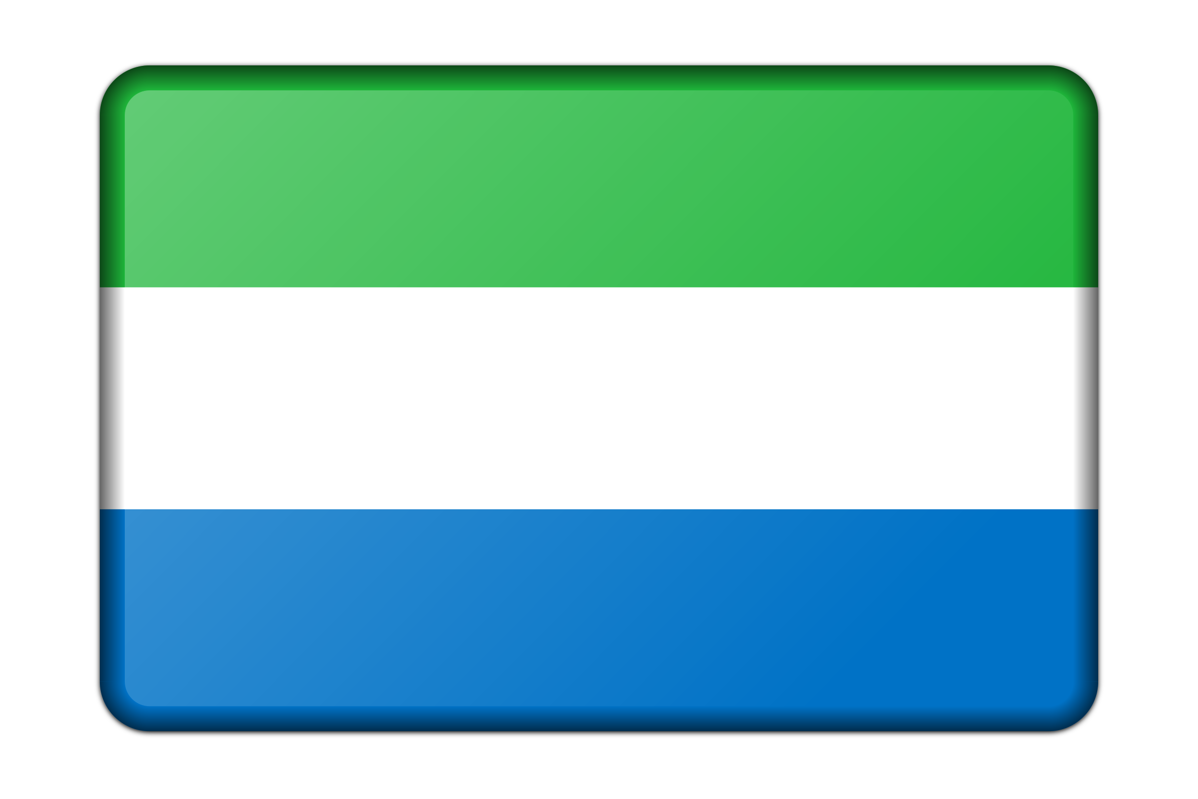 Sierra Leone flag (bevelled) by Firkin
