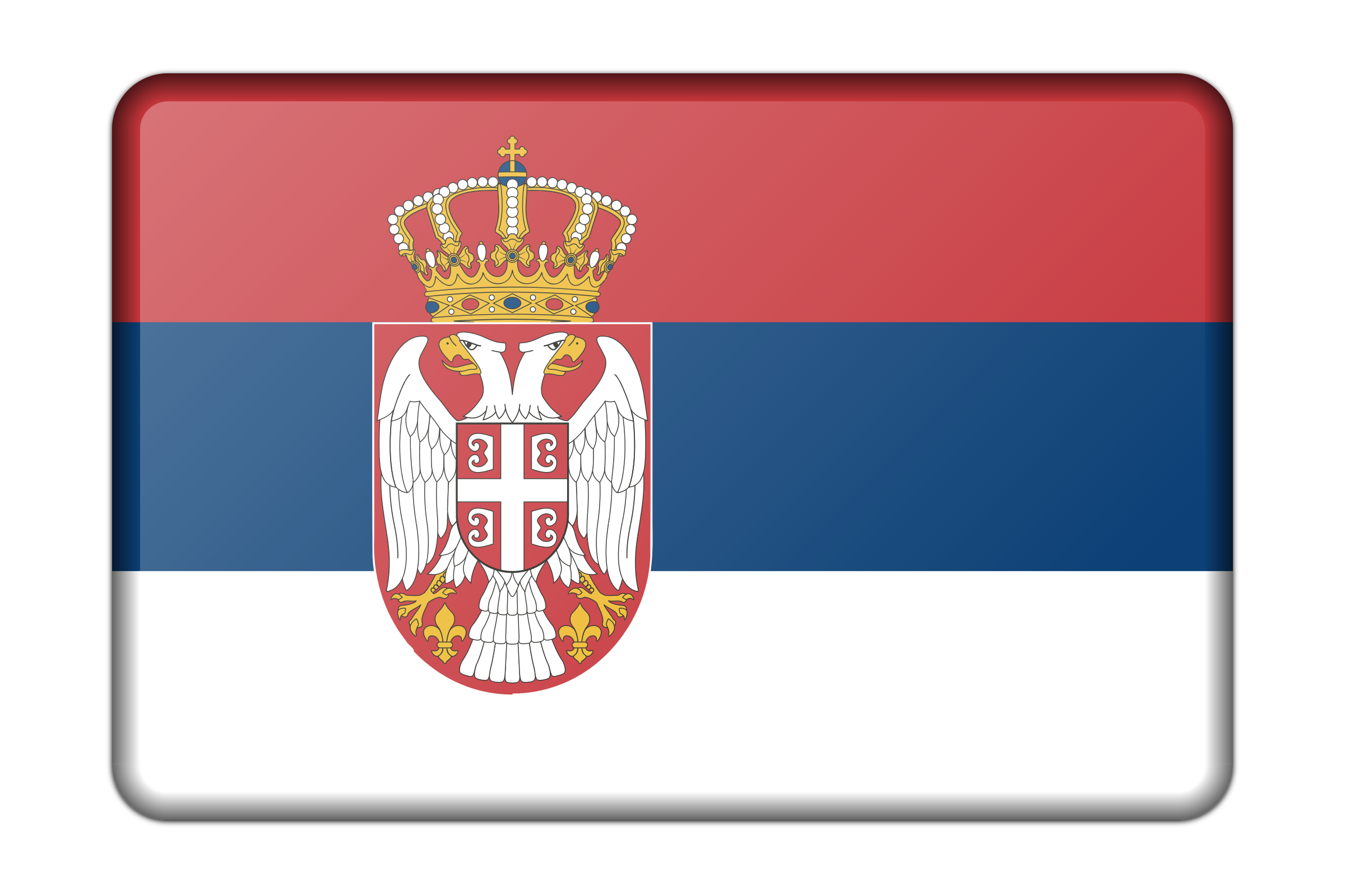 Serbia flag (bevelled) by Firkin