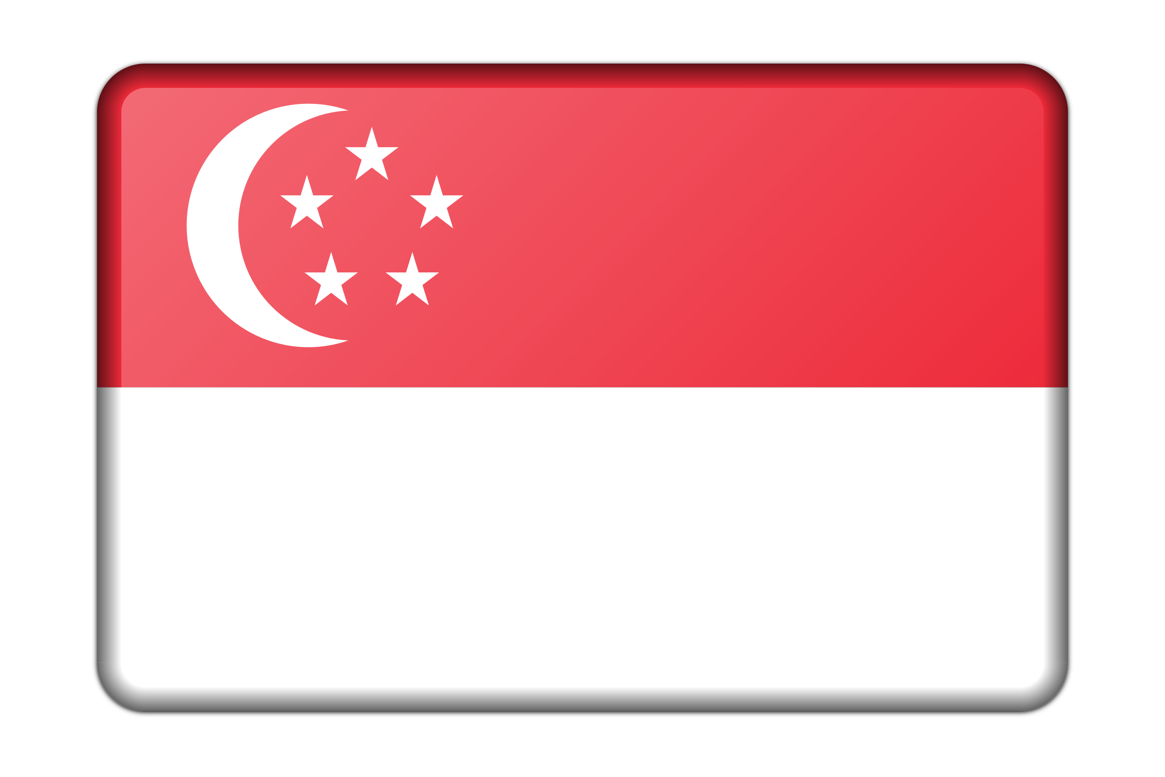 Singapore flag (bevelled) by Firkin
