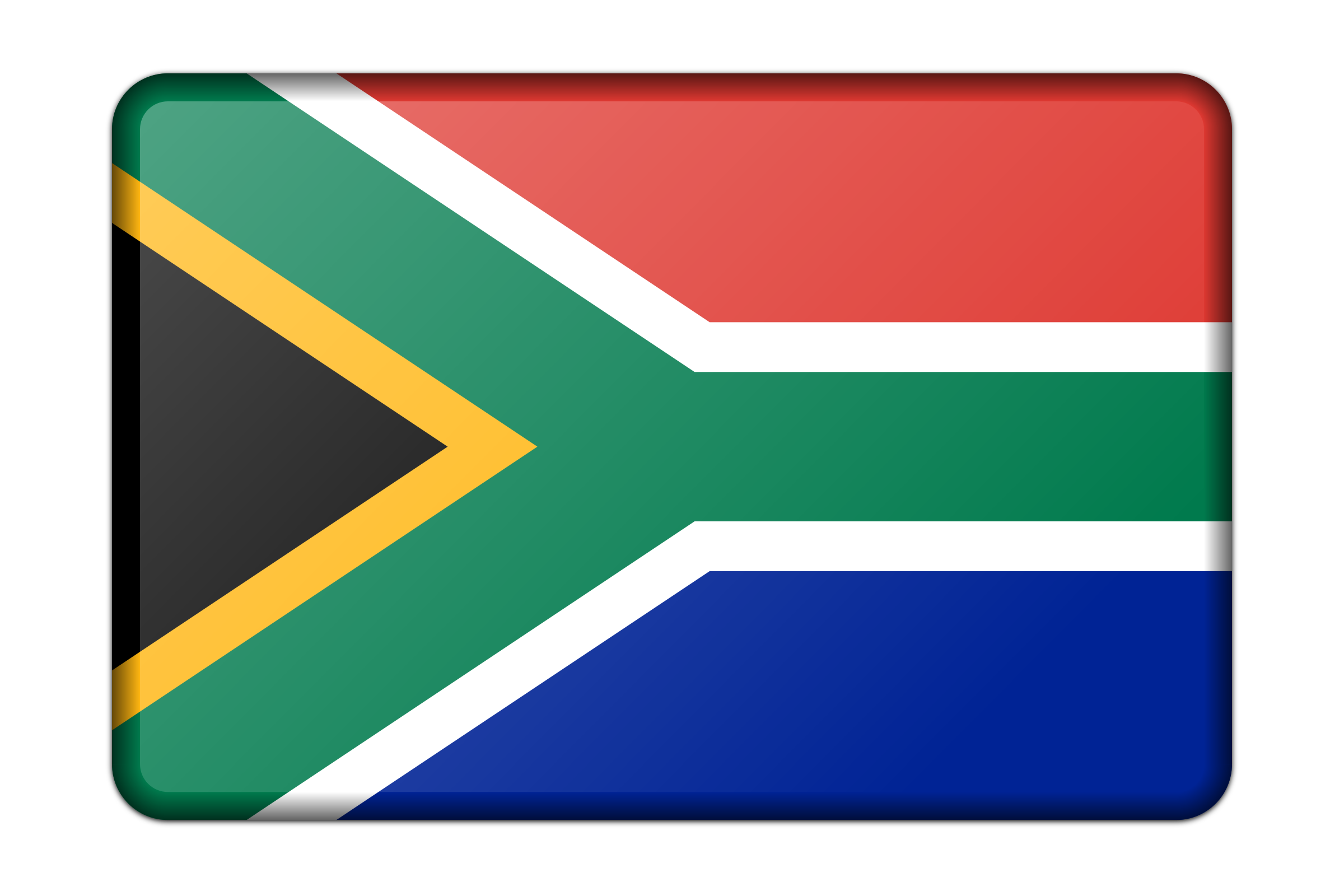 South Africa flag (bevelled) by Firkin