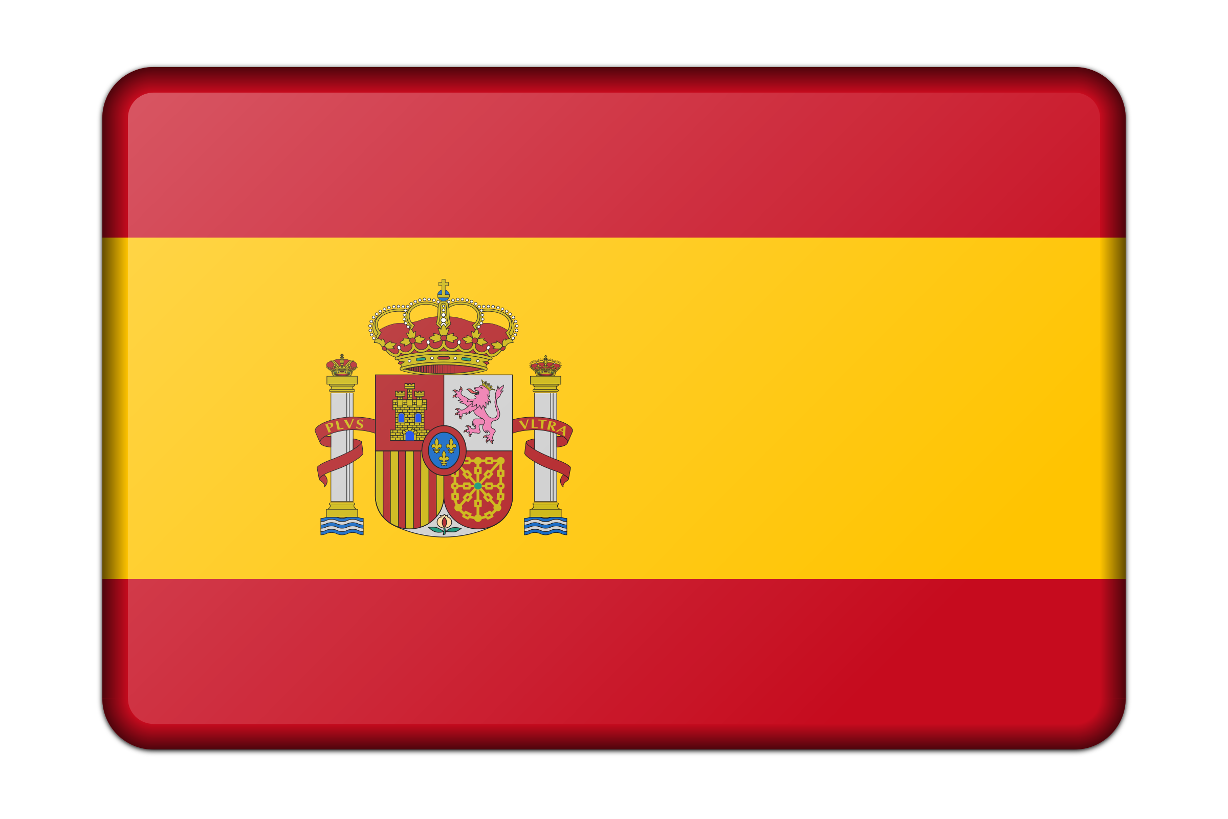 Spain flag (bevelled) by Firkin