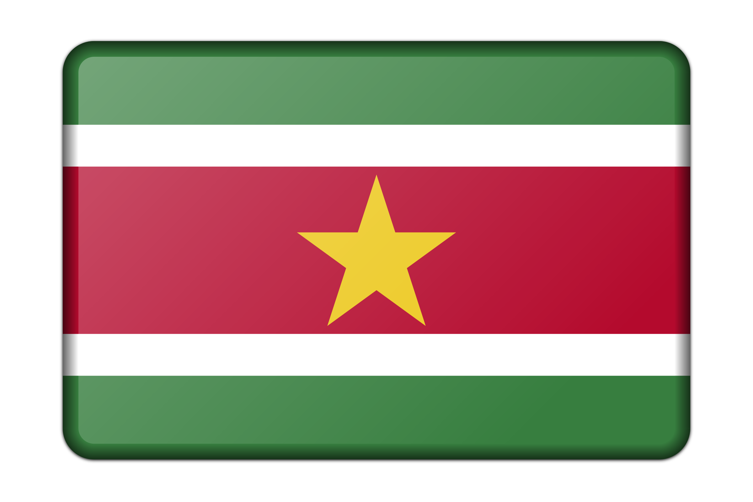 Suriname flag (bevelled) by Firkin