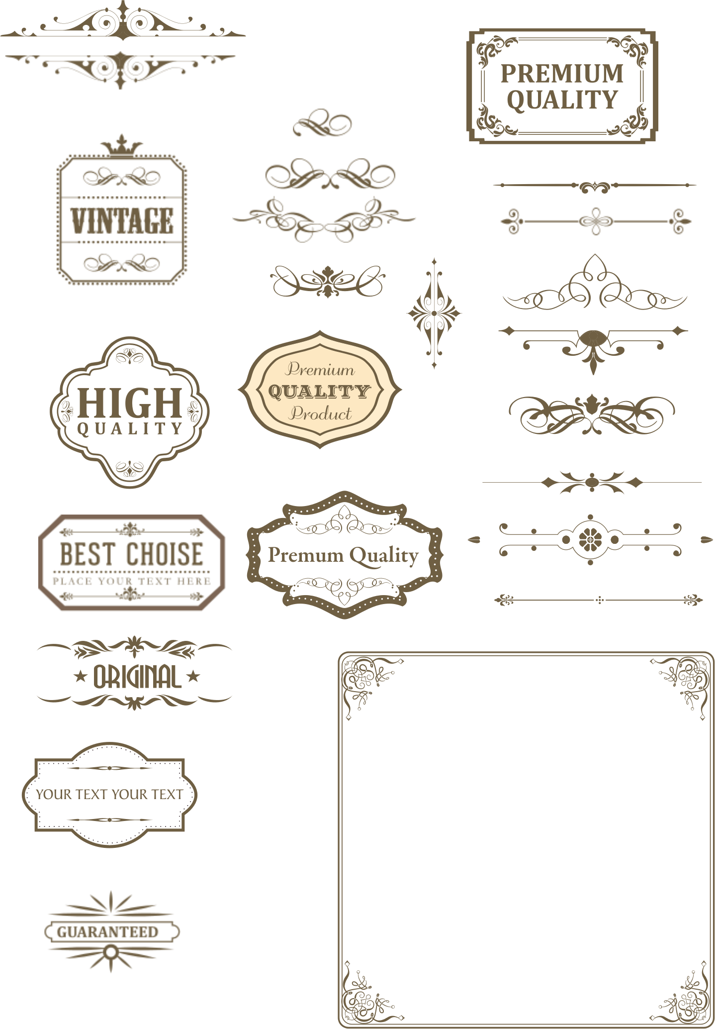 Vintage text box and dividers by sgjoni