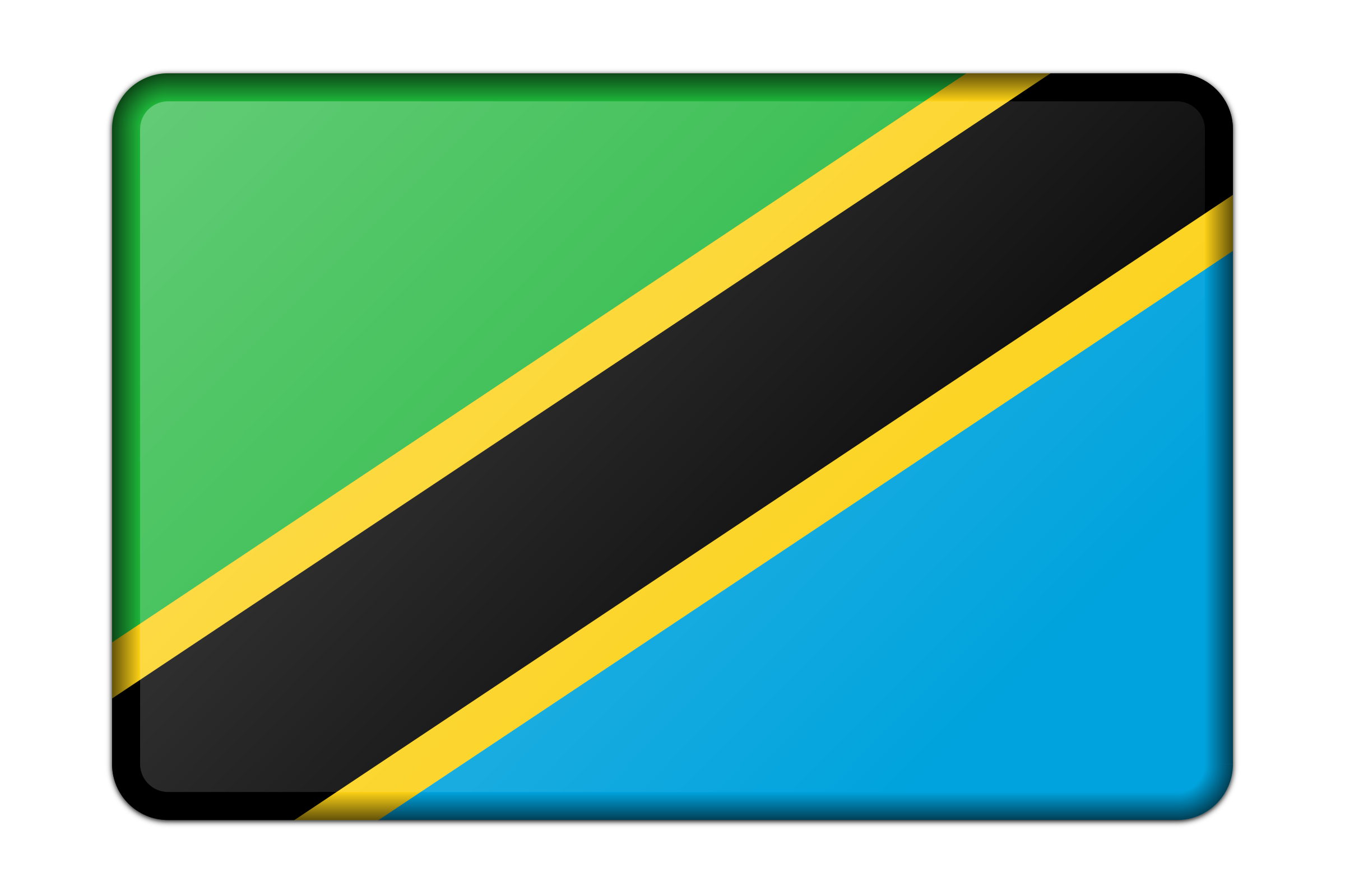 Tanzania flag (bevelled) by Firkin