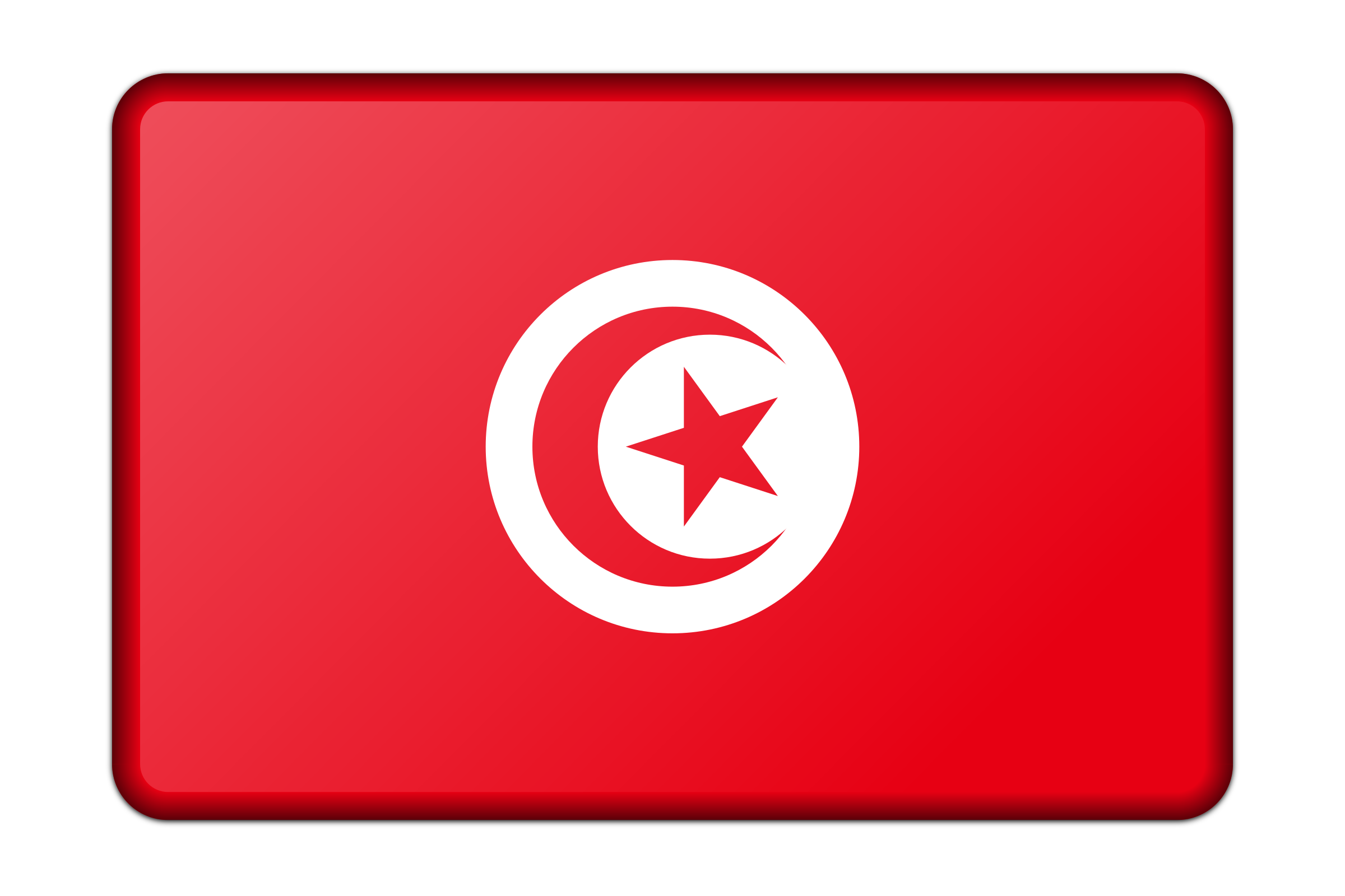 Tunisia flag (bevelled) by Firkin
