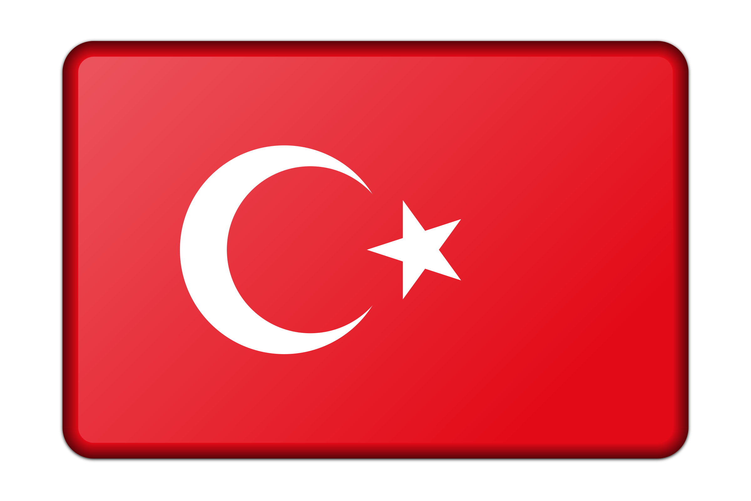 Turkey flag (bevelled) by Firkin