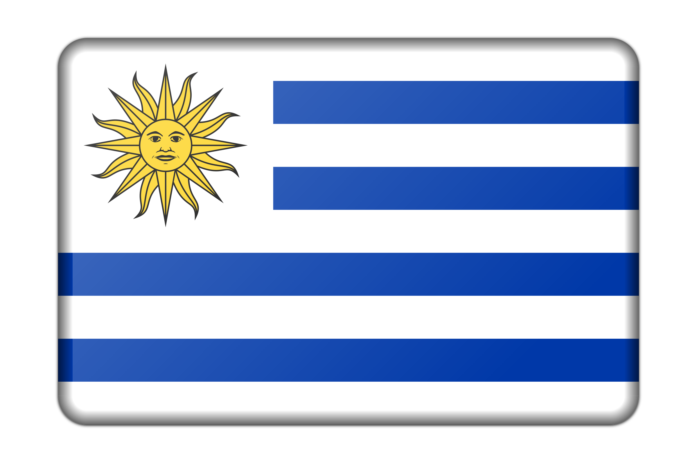 Uruguay flag (bevelled) by Firkin