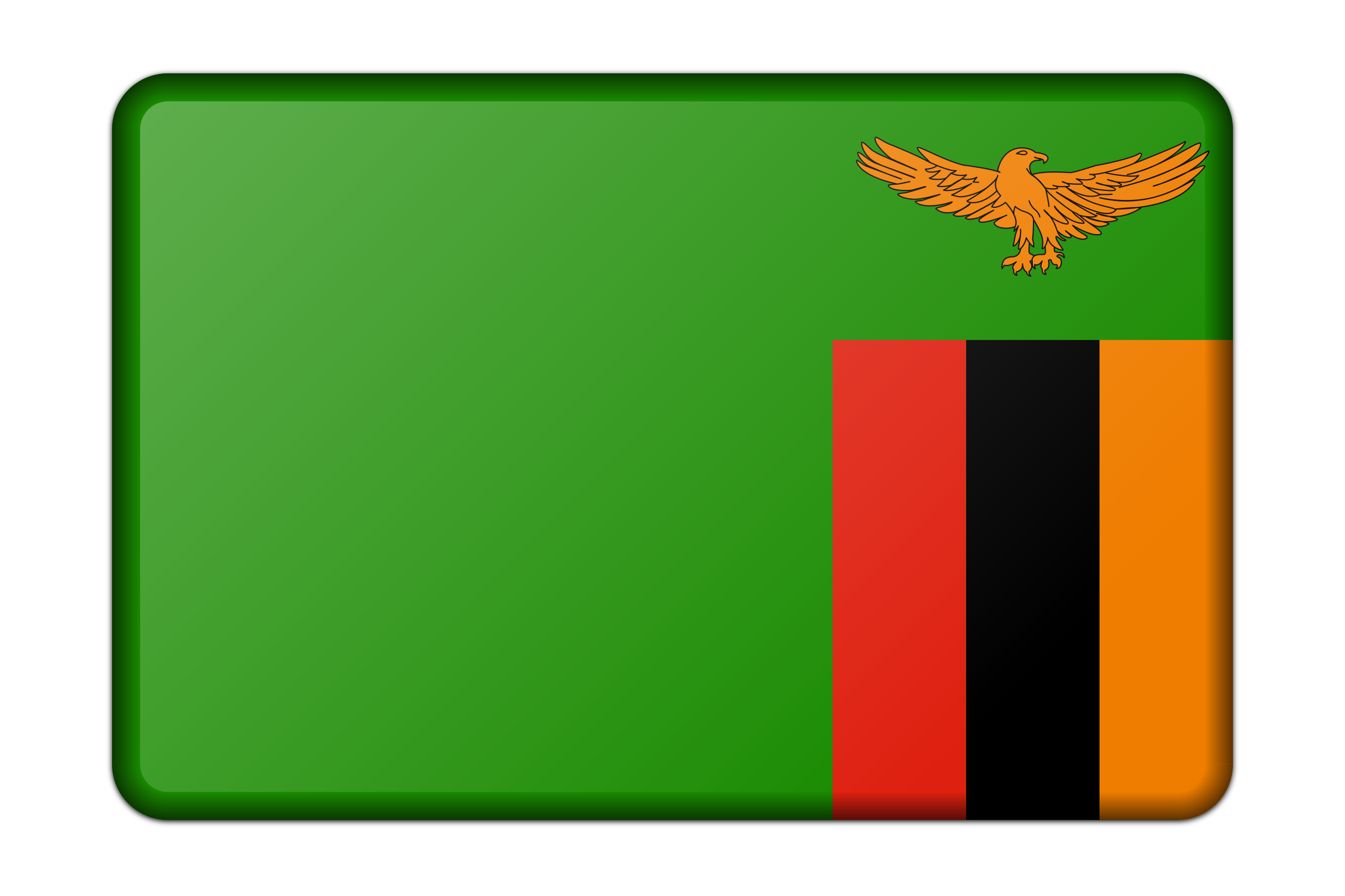 Zambia flag (bevelled) by Firkin