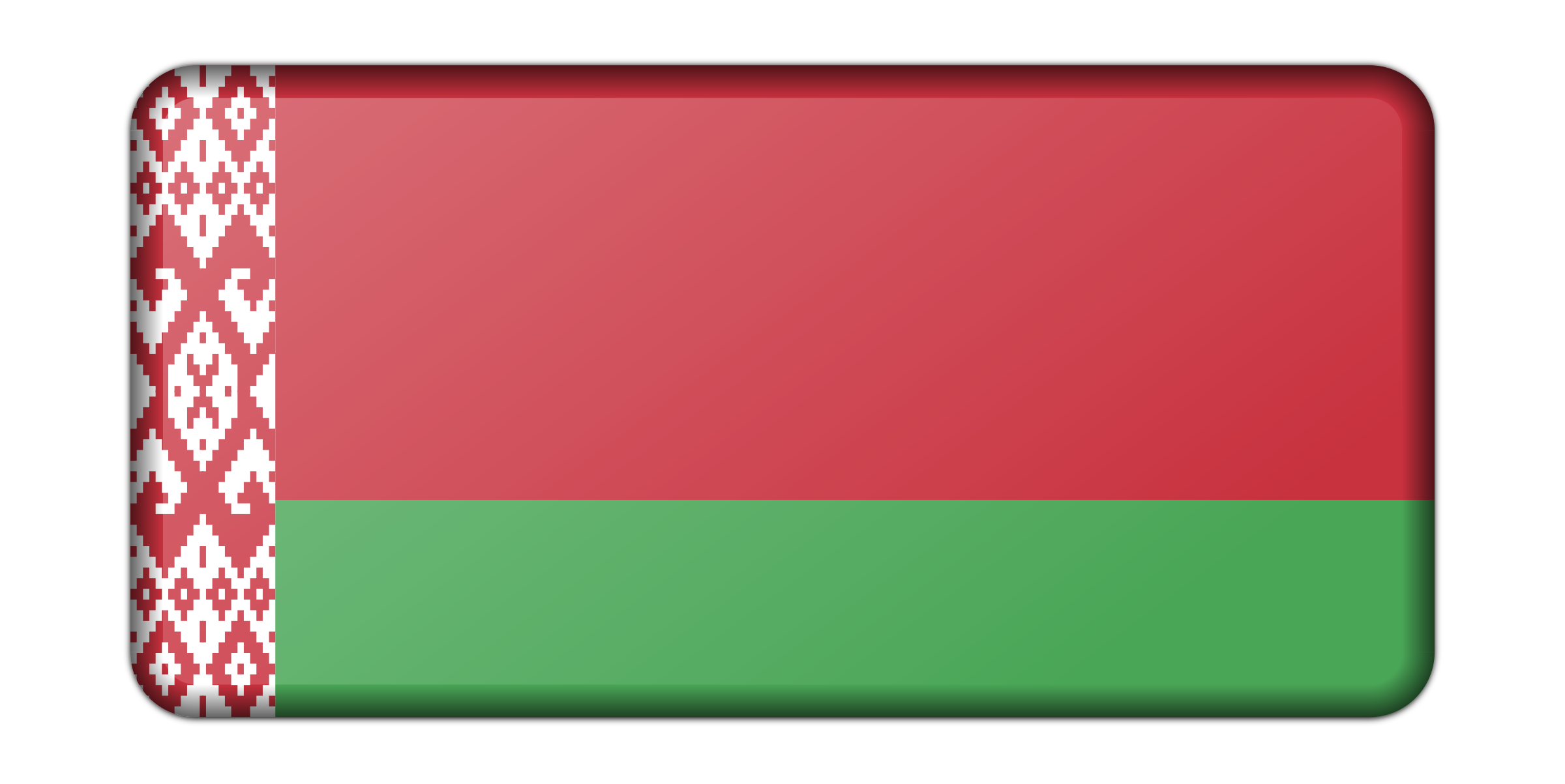 Belarus flag (bevelled) by Firkin