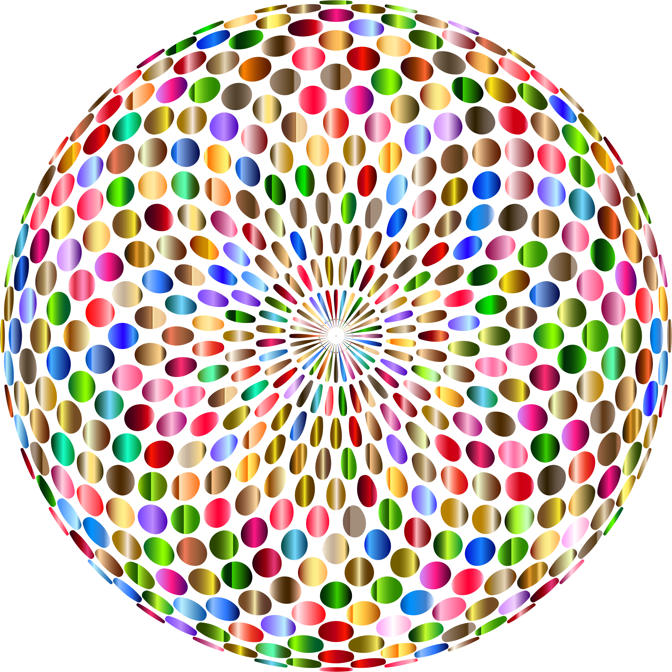 Psychedelic Chromatic Disco Ball No Background by GDJ