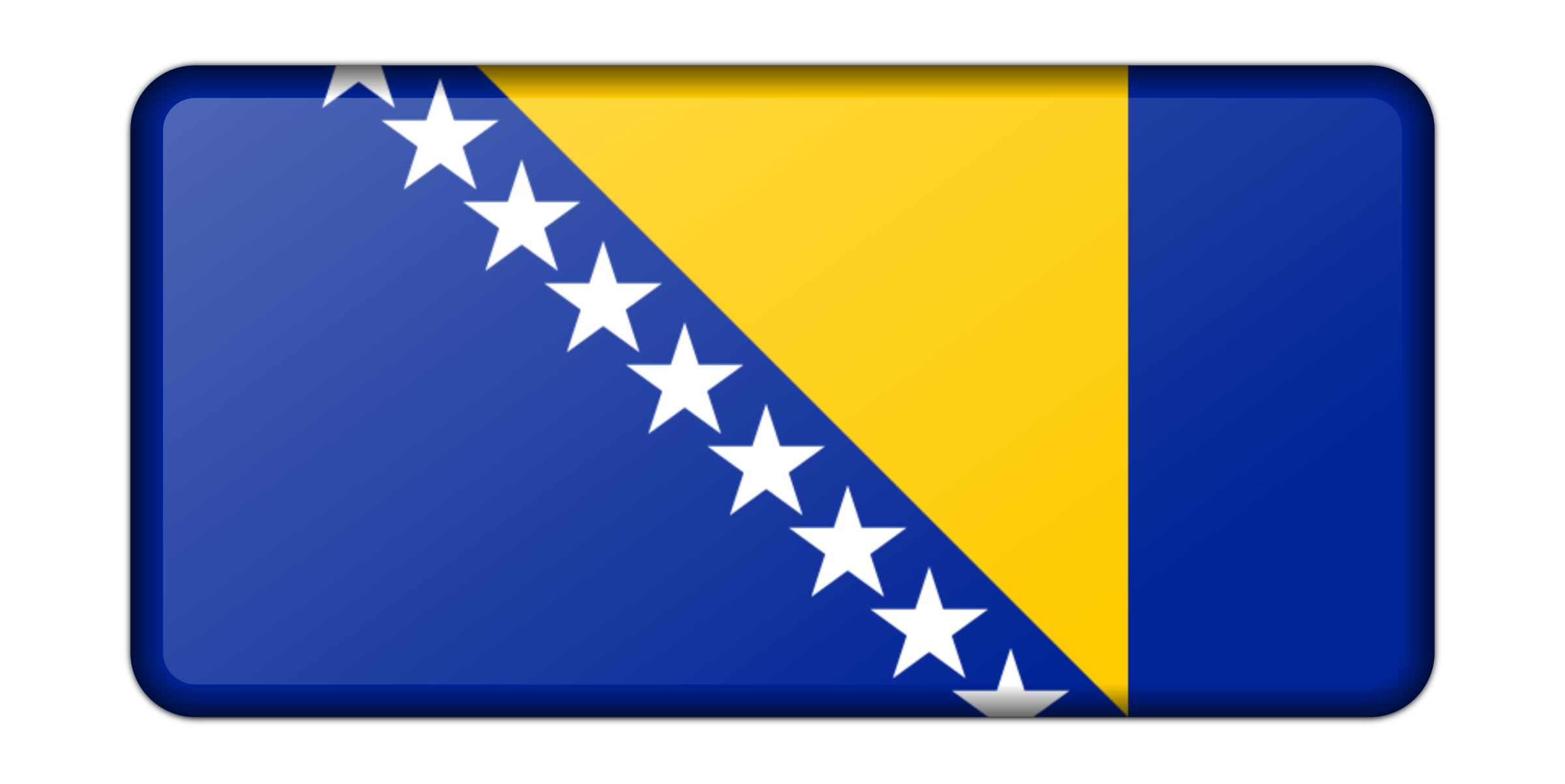 Flag of Bosnia Herzegovina (bevelled) by Firkin