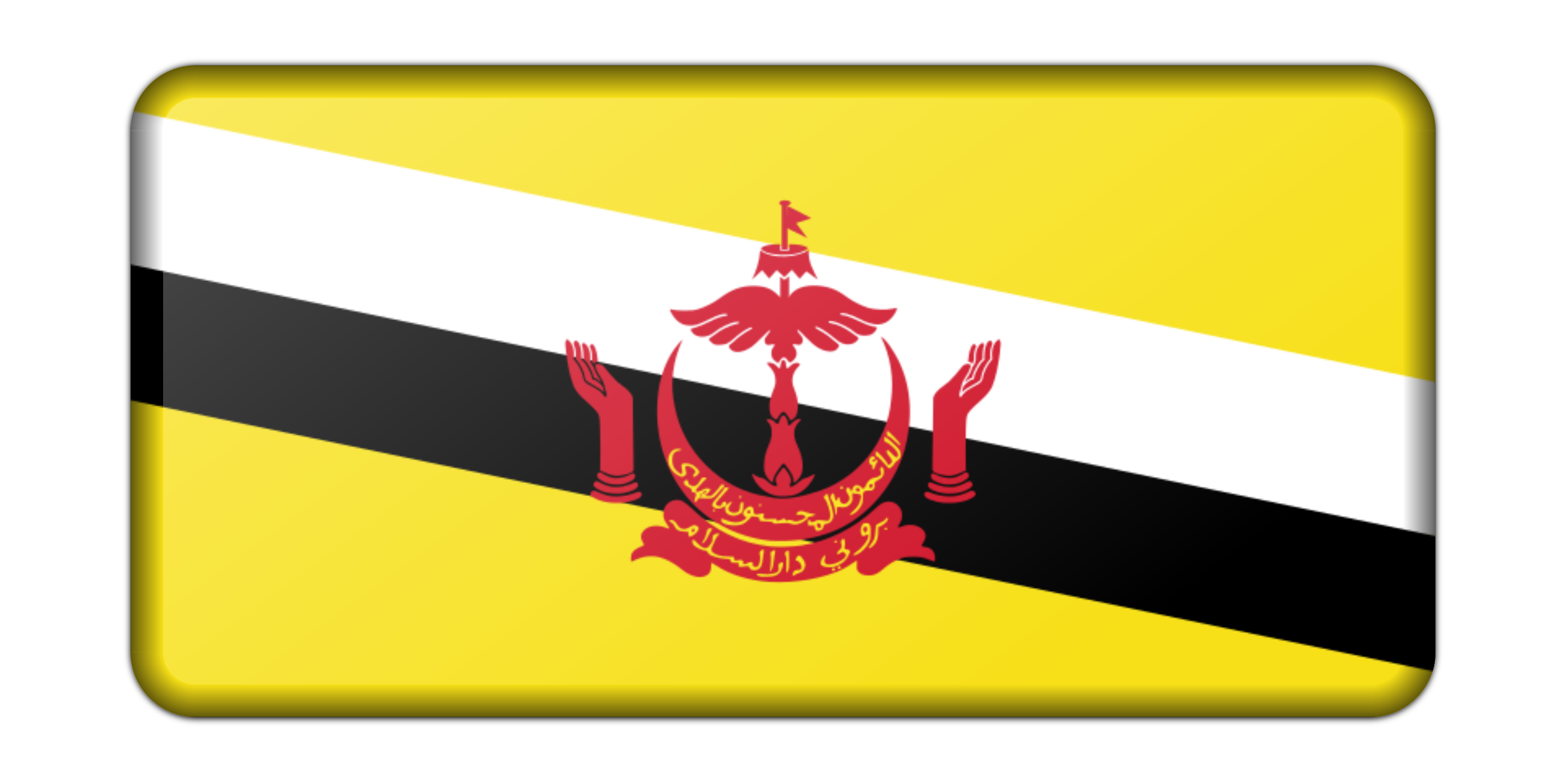 Flag of Brunei (bevelled) by Firkin