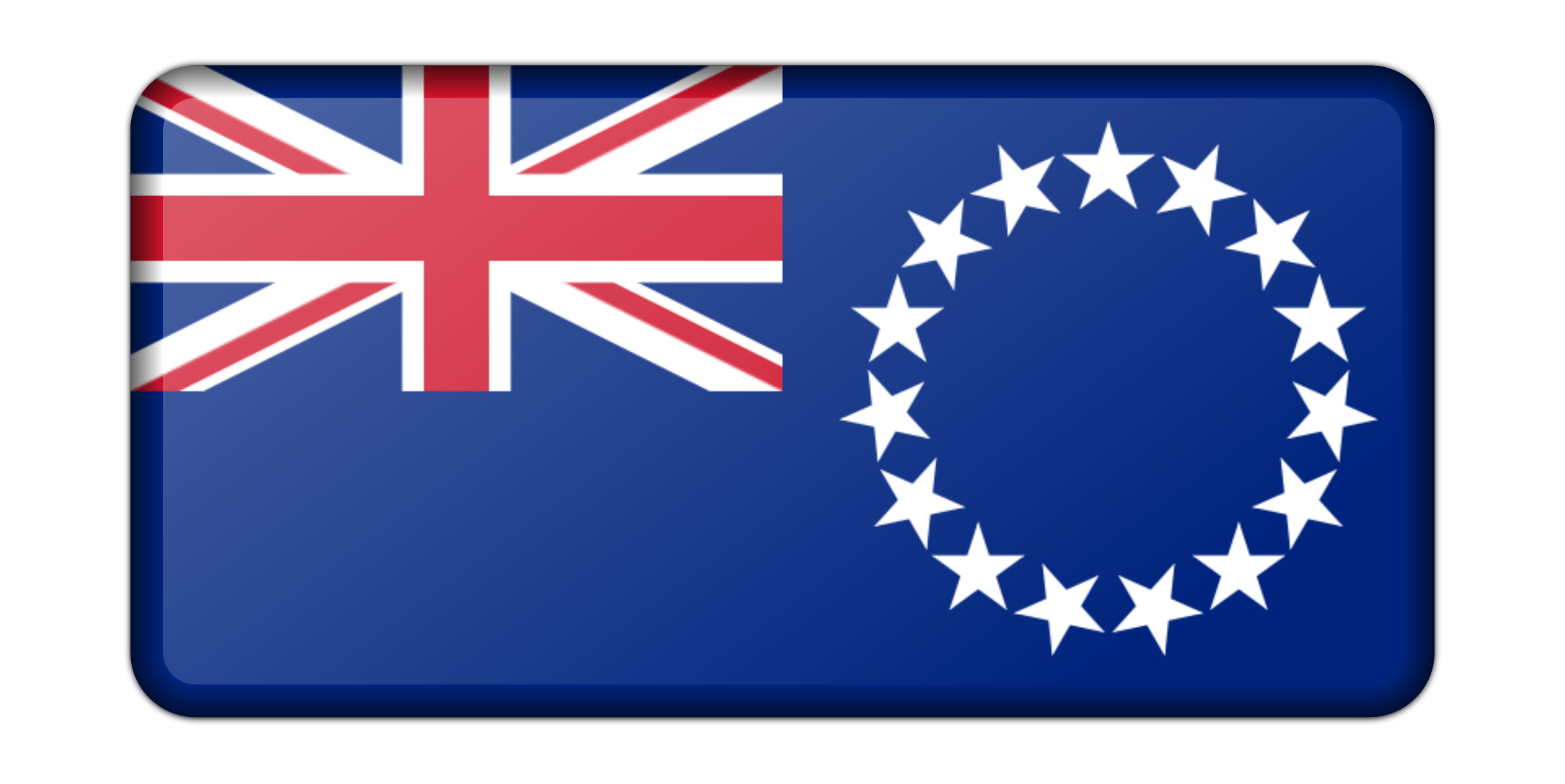 Flag of Cook Islands (bevelled) by Firkin