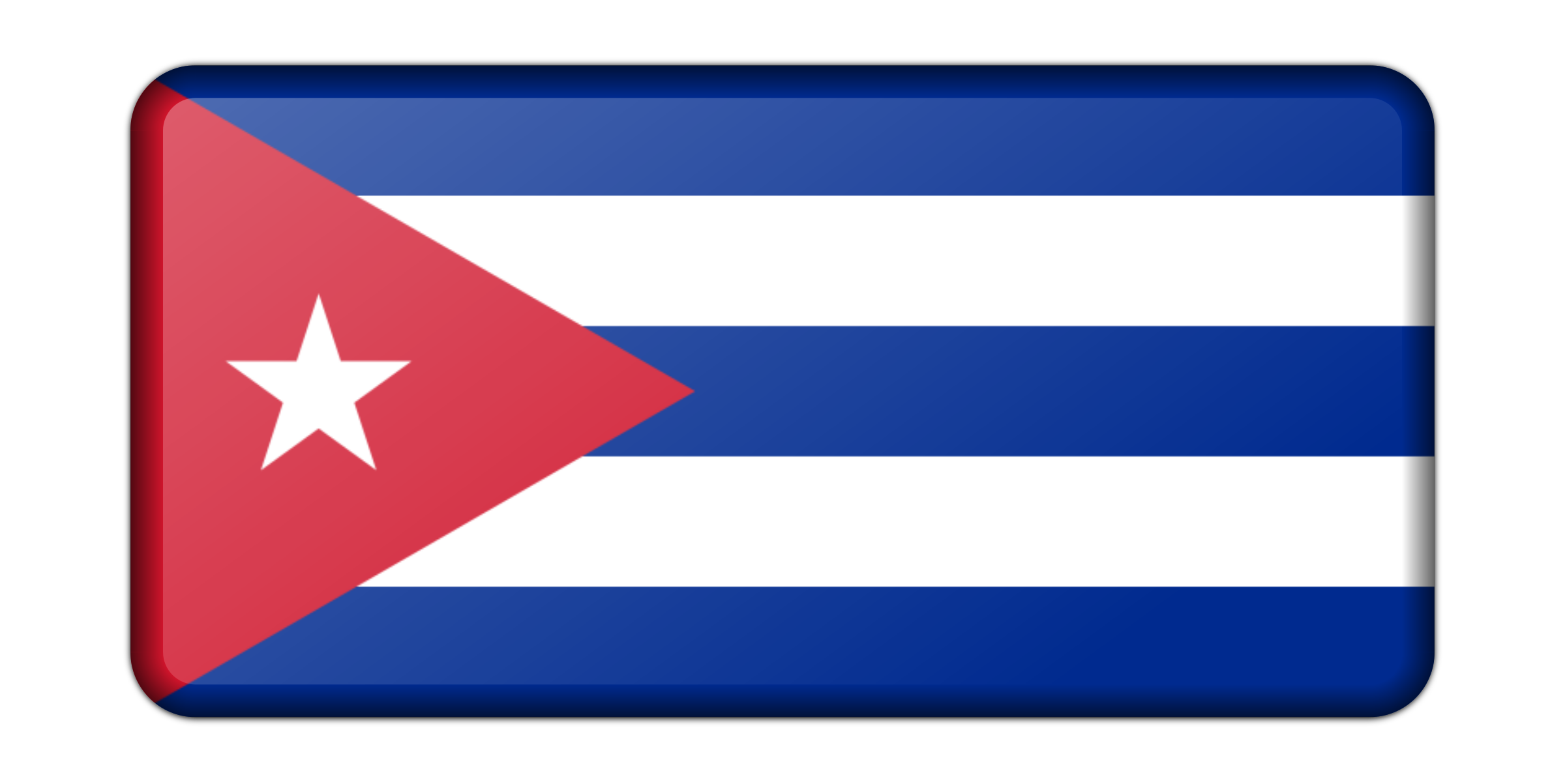 Flag of Cuba (bevelled) by Firkin