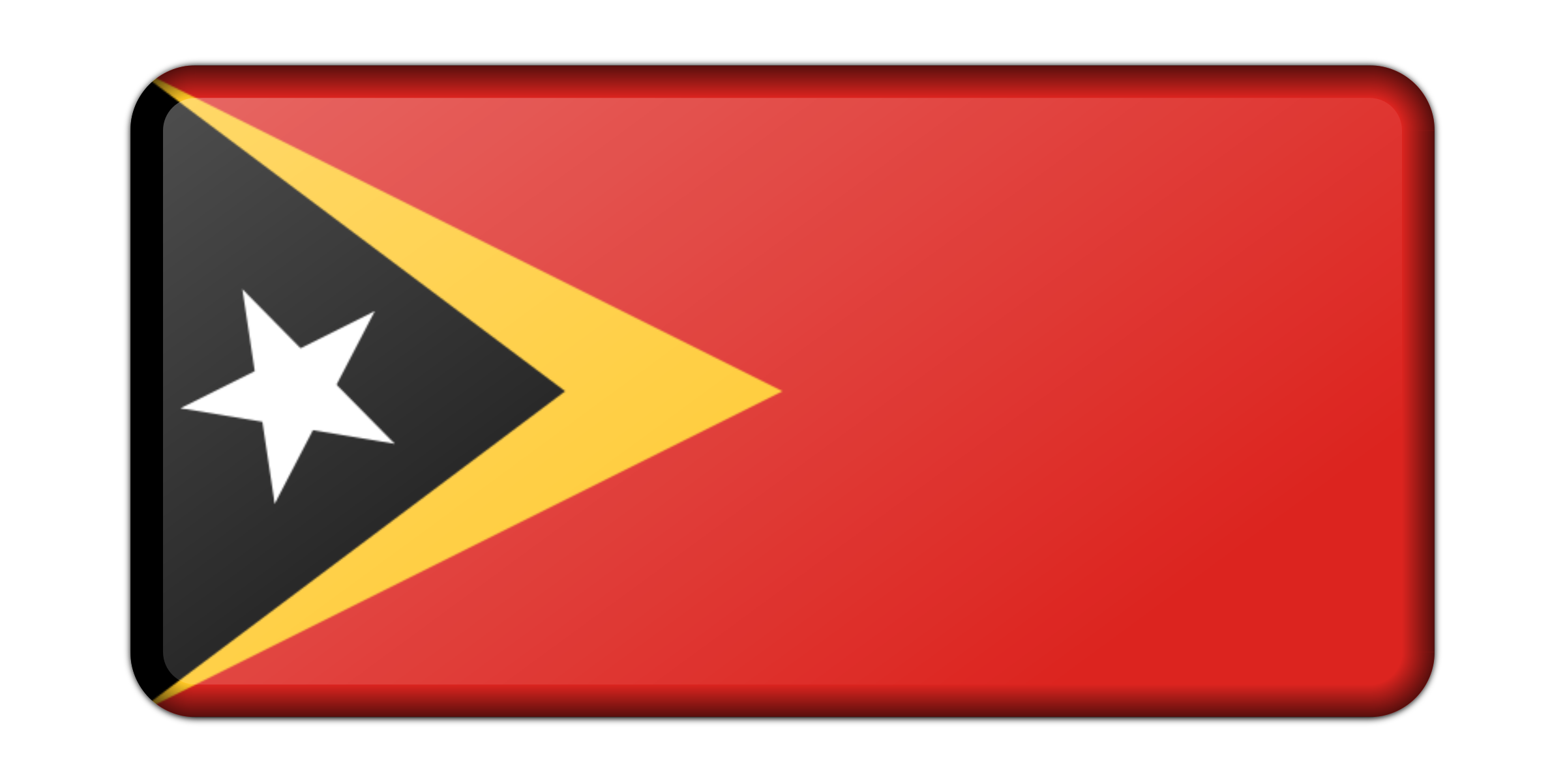 Flag of East TImor (bevelled) by Firkin
