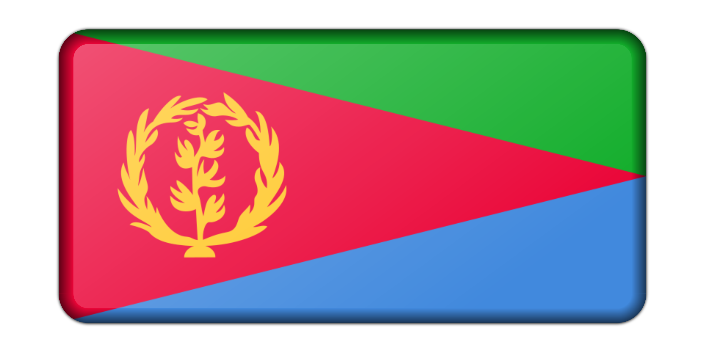 Flag of Eritrea (bevelled) by Firkin