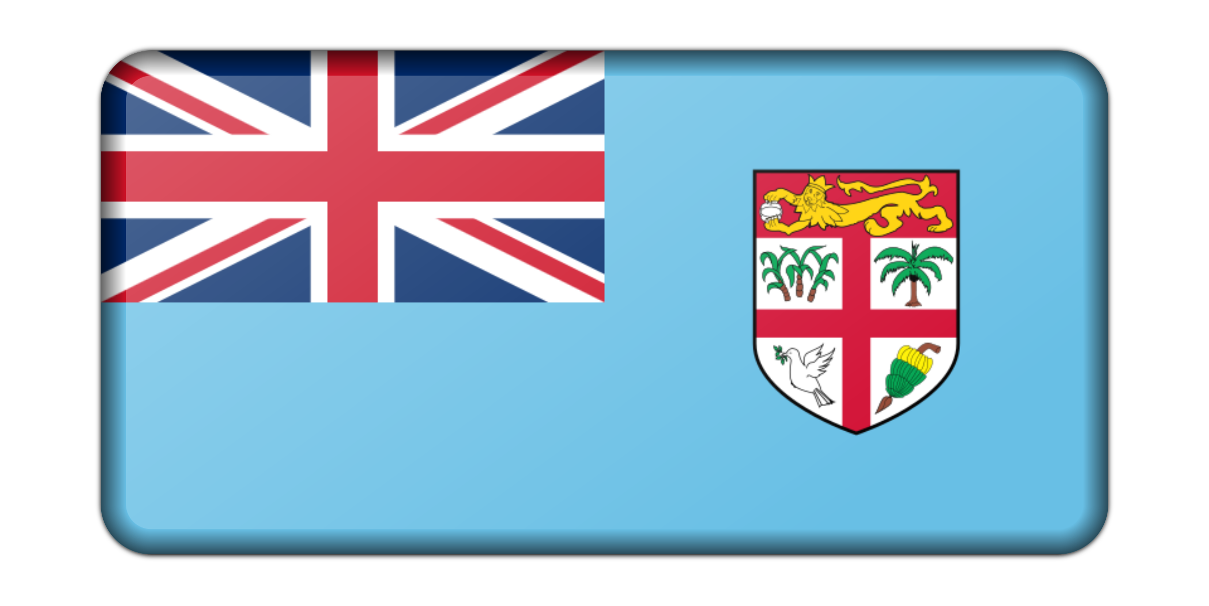 Flag of Fiji (bevelled) by Firkin