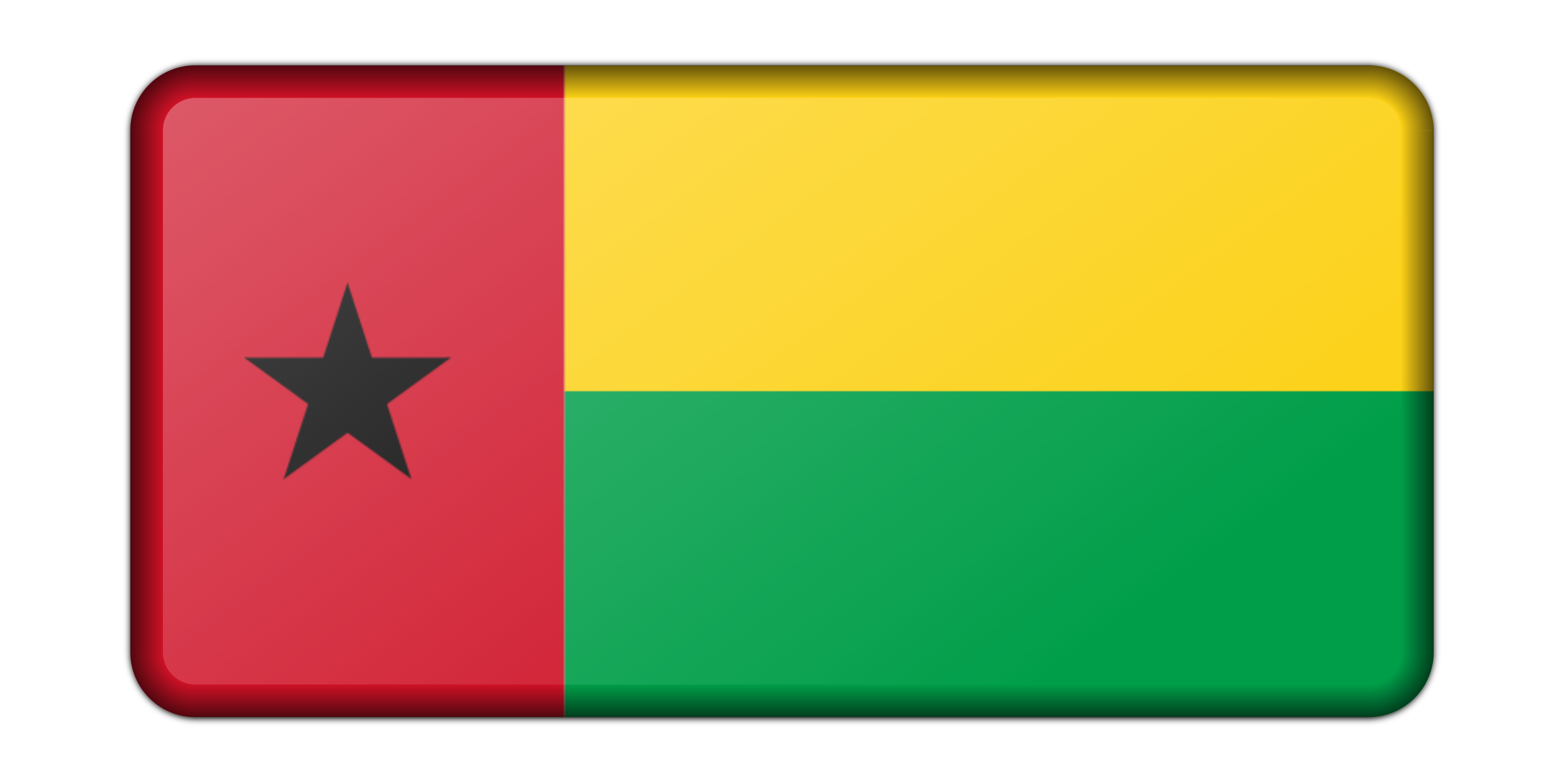 Flag of Guinea Bissau (bevelled) by Firkin