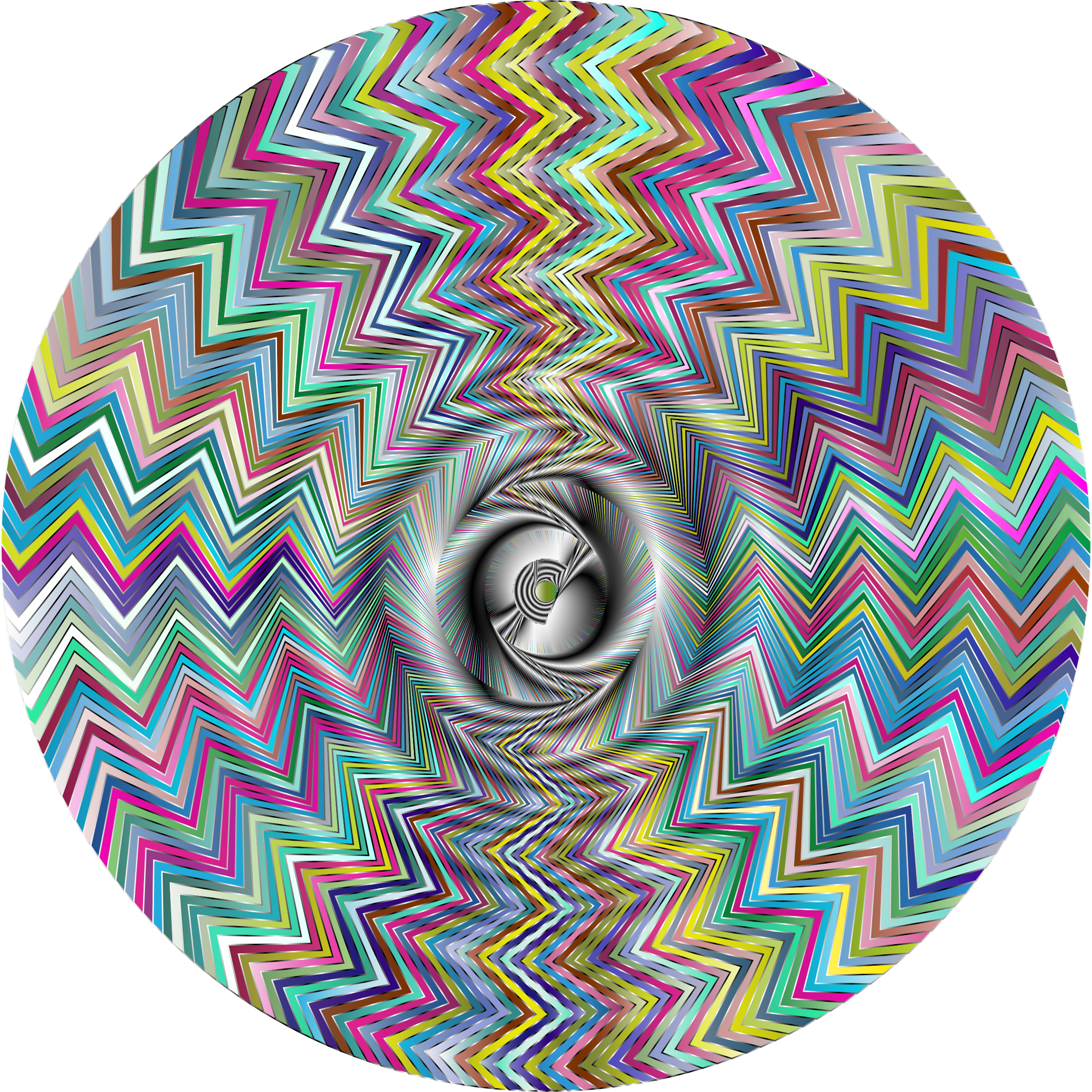 Fraser Spiral Illusion Derivative 5 Variation 2 by GDJ